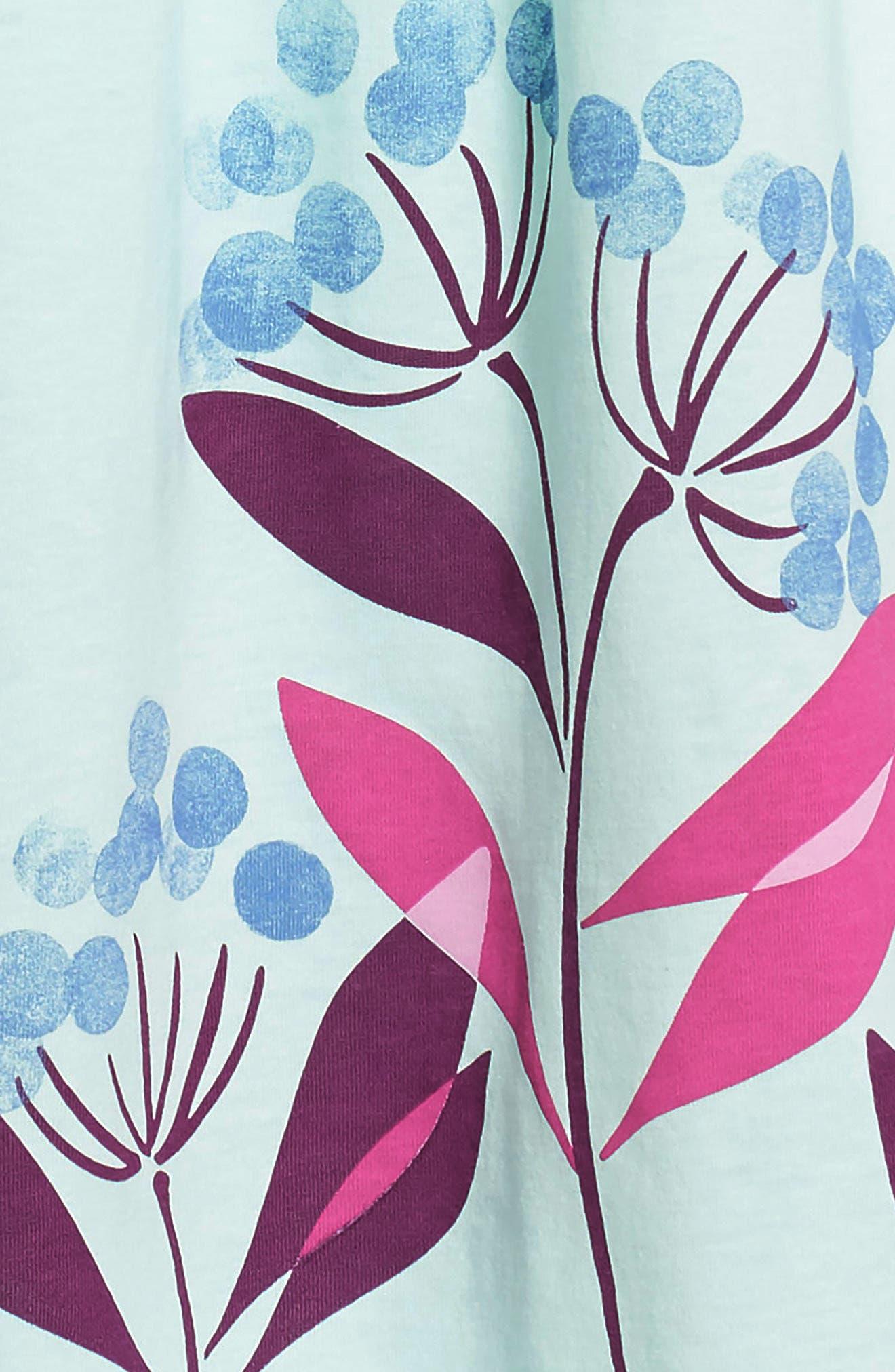Floral Empire Waist Dress,                             Alternate thumbnail 3, color,                             456