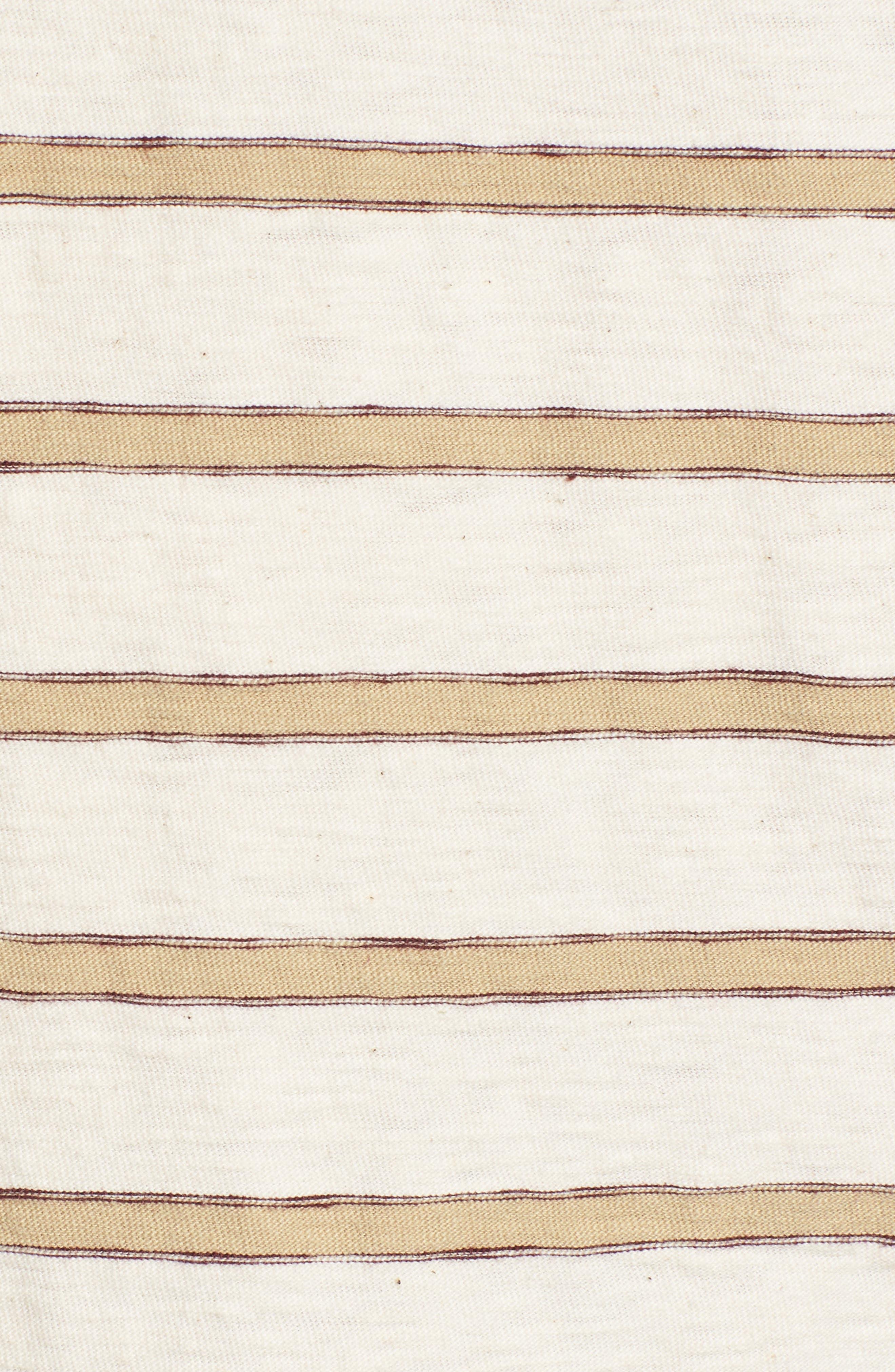 Vintage Stripe Pocket T-Shirt,                             Alternate thumbnail 5, color,                             COTTON STRIPE