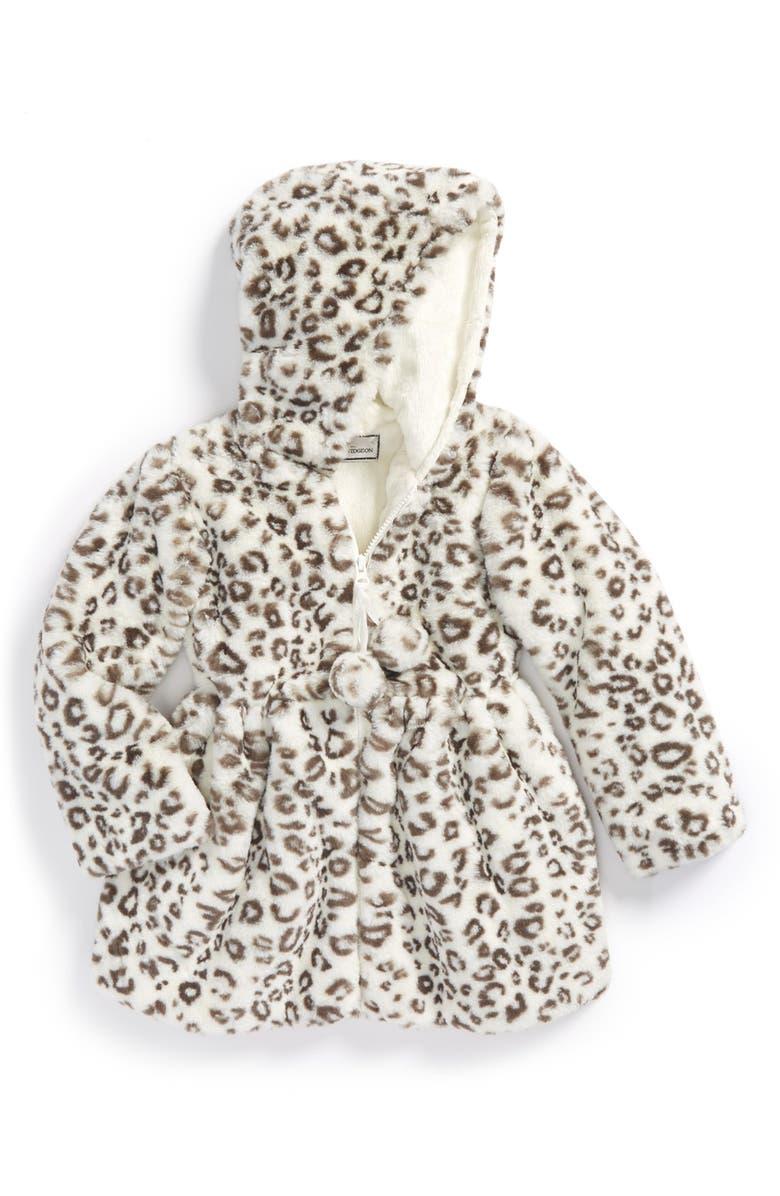 b2ccfd4c3 Widgeon Hooded Faux Fur Pompom Jacket (Toddler Girls   Little Girls ...