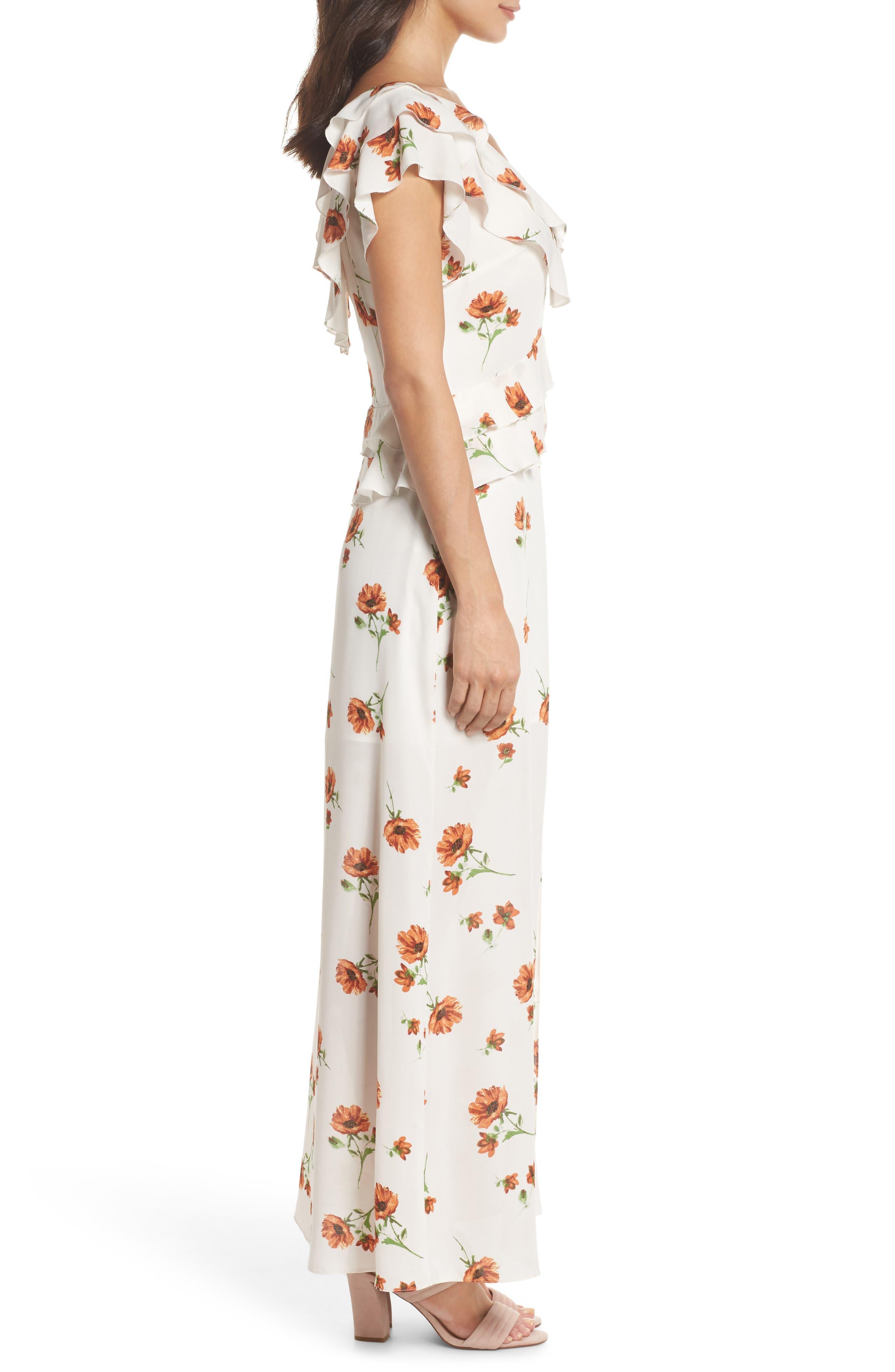 Darling Nikki Floral Maxi Dress,                             Alternate thumbnail 3, color,                             100