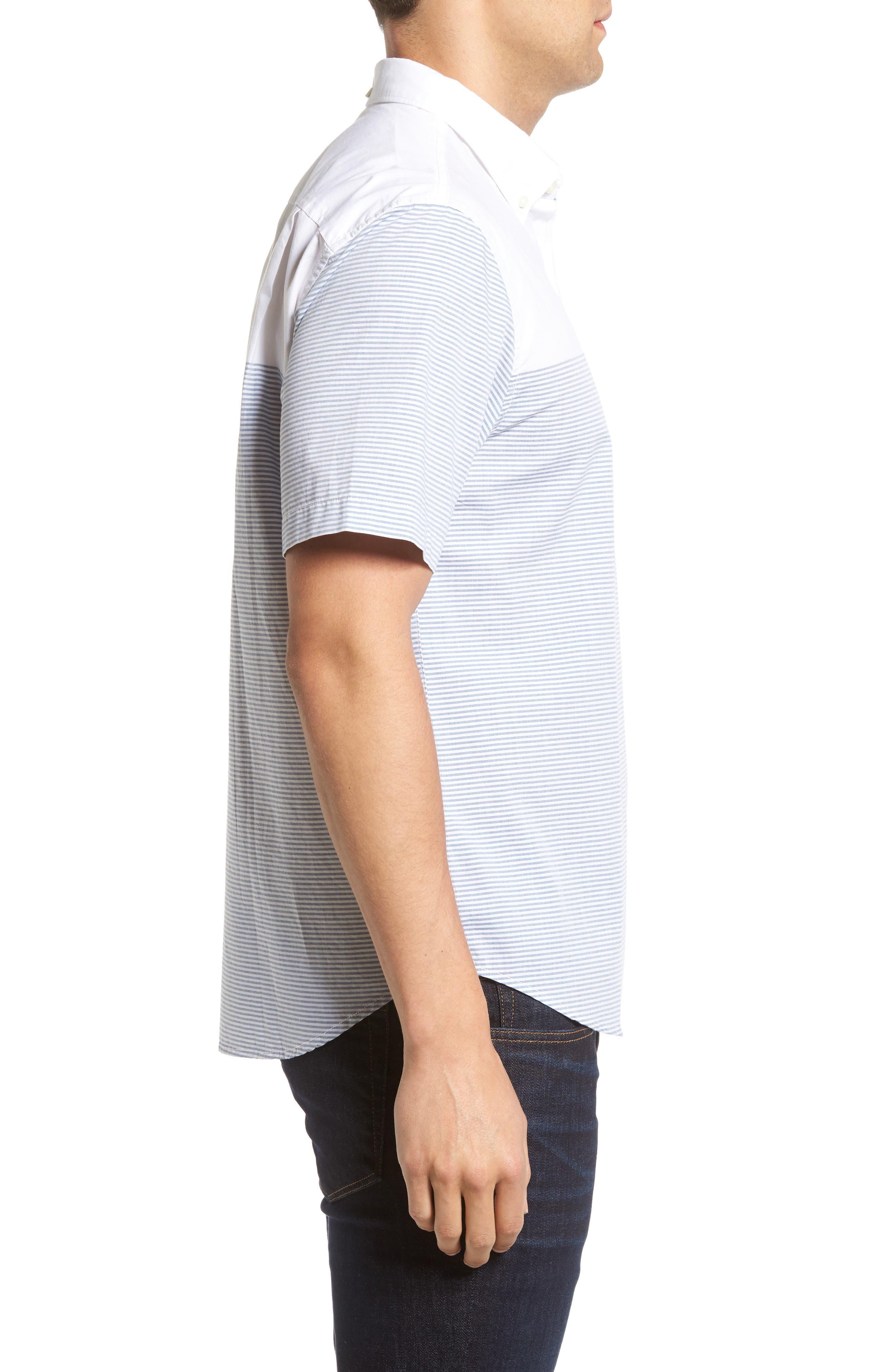 The Yachtsman Standard Fit Cotton Sport Shirt,                             Alternate thumbnail 3, color,                             100
