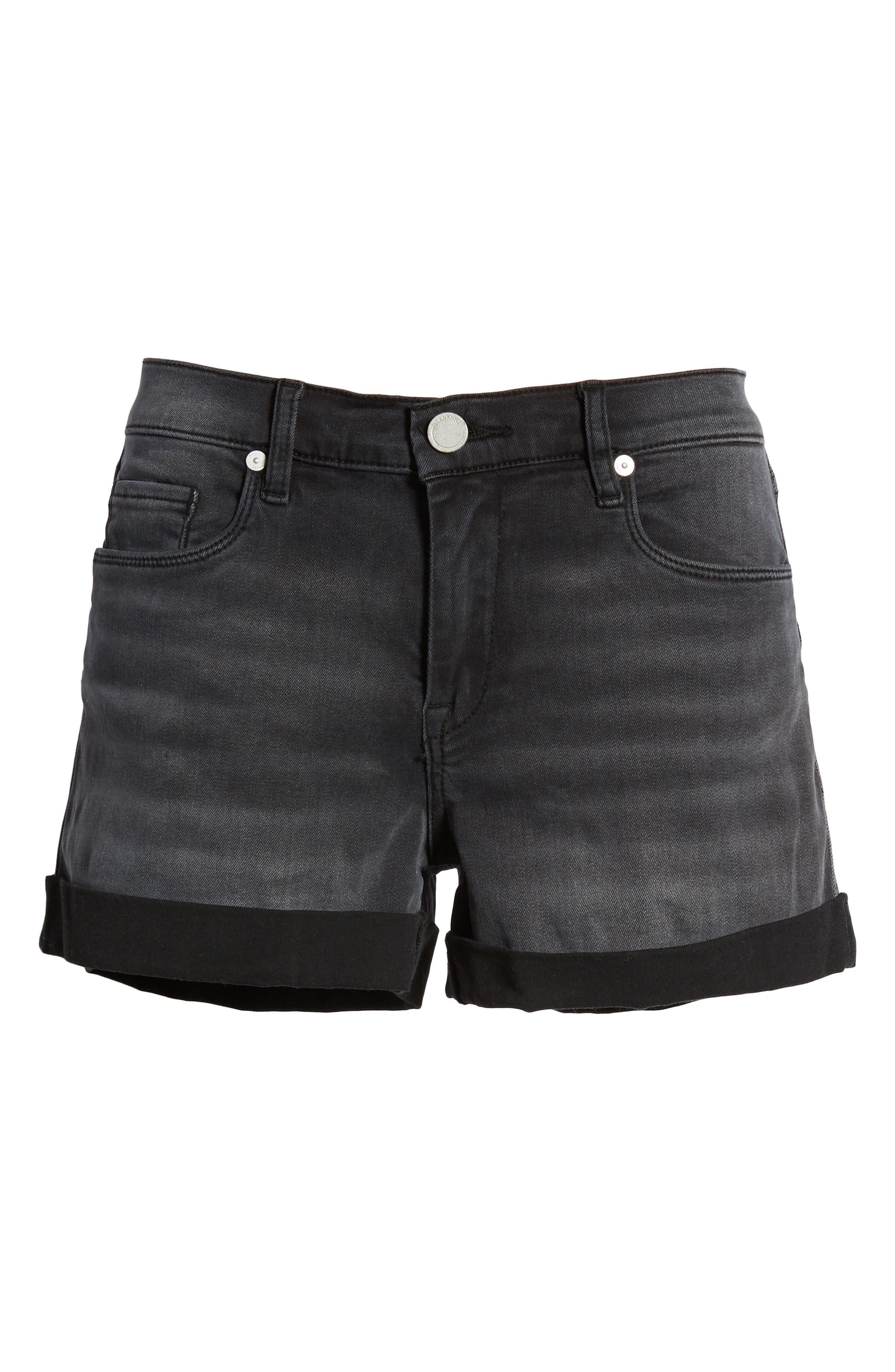 The Fulton Cuff Hem Denim Shorts,                             Alternate thumbnail 7, color,                             001