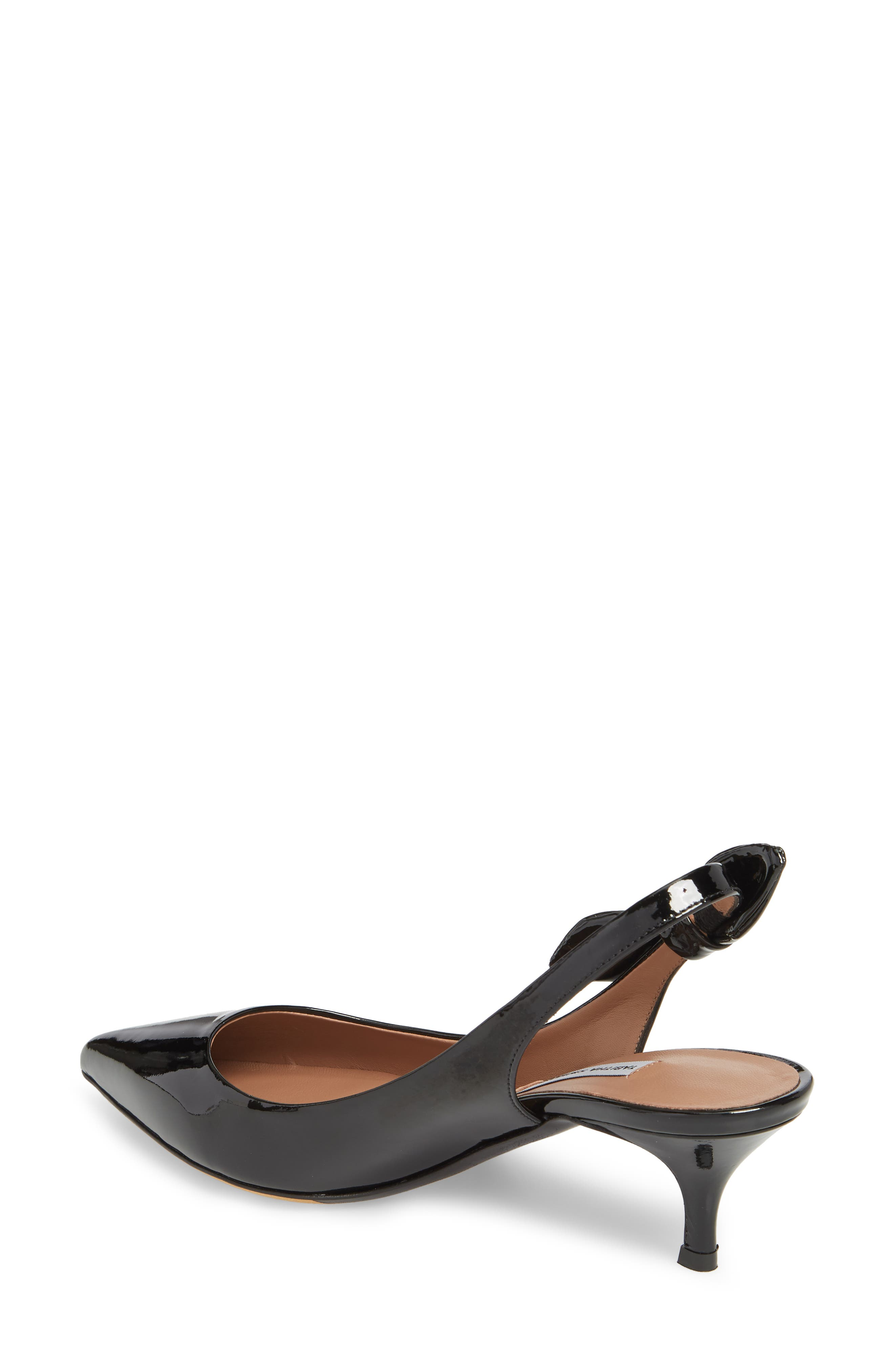 Rise Bow Slingback Pump,                             Alternate thumbnail 2, color,                             BLACK PATENT