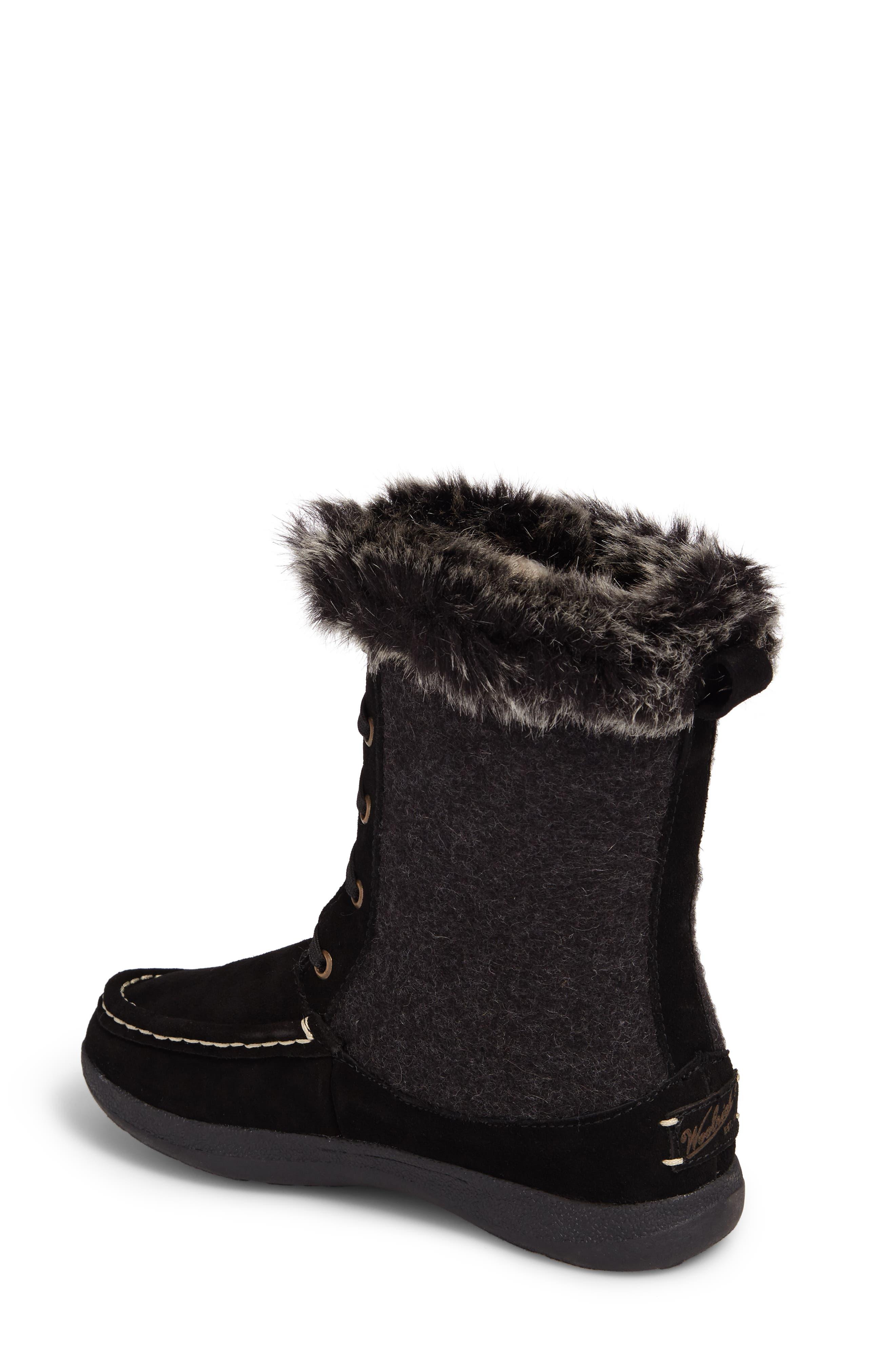 Doe Creek II Faux Fur Trim Boot,                             Alternate thumbnail 4, color,