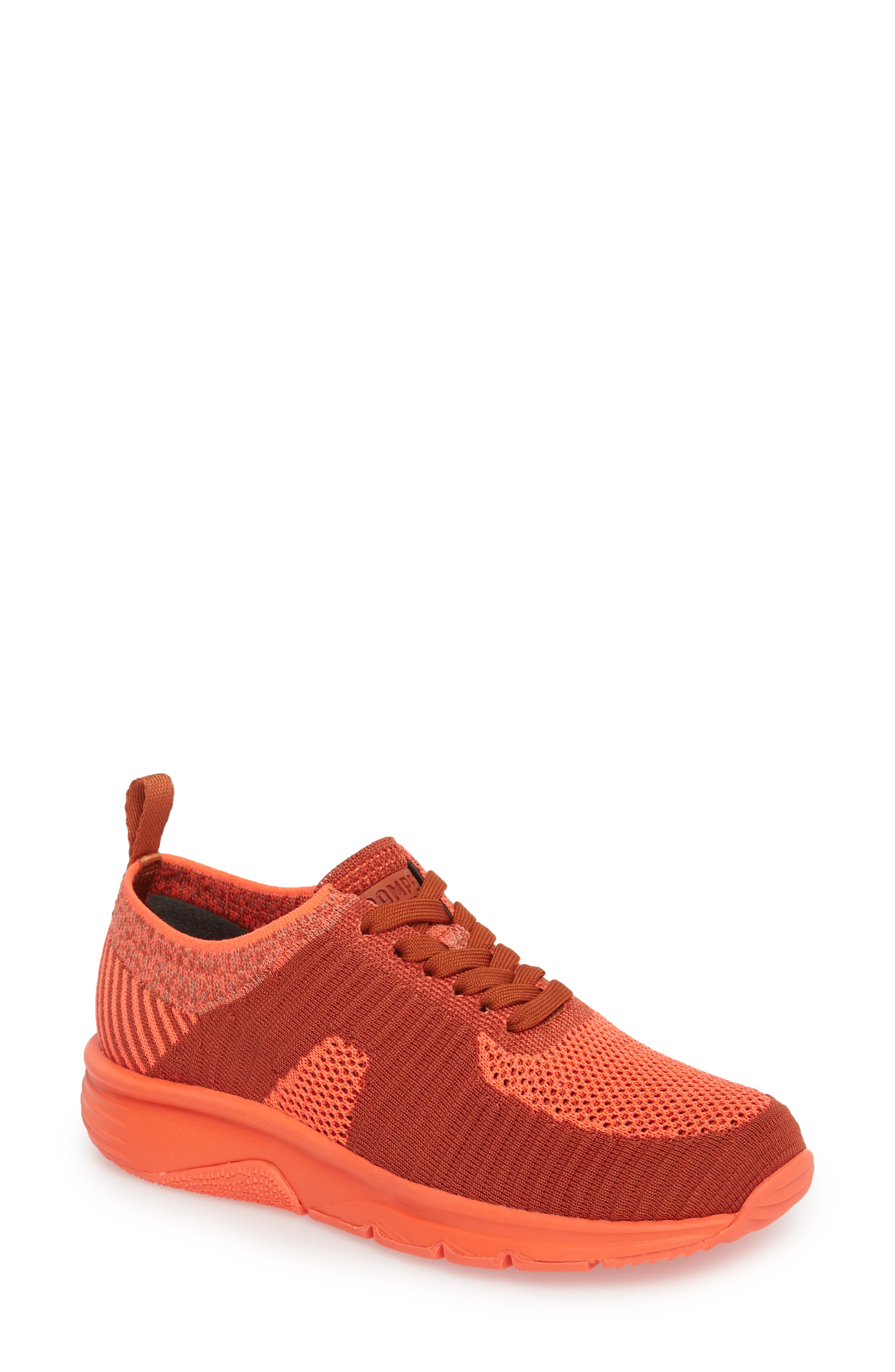 Drift Knit Sneaker,                             Main thumbnail 1, color,                             RED - ASSORTED FABRIC