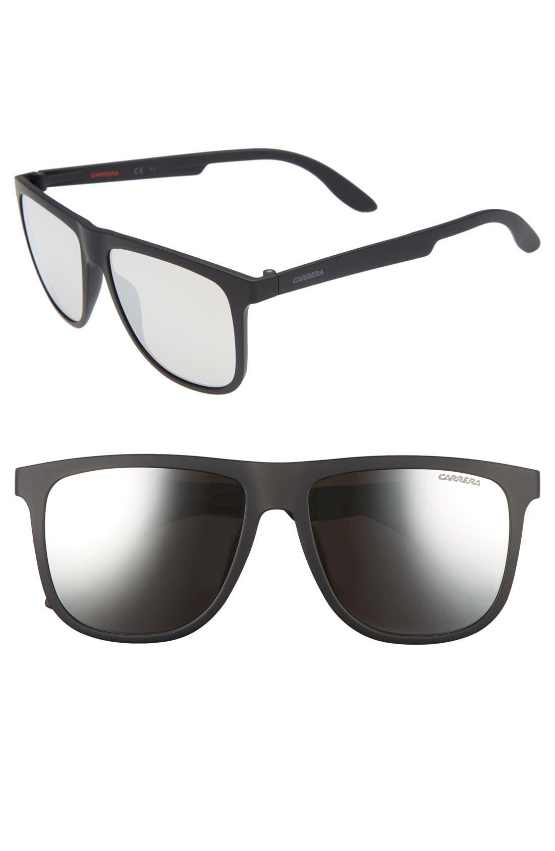 5003ST 57mm Sunglasses,                             Main thumbnail 1, color,                             001
