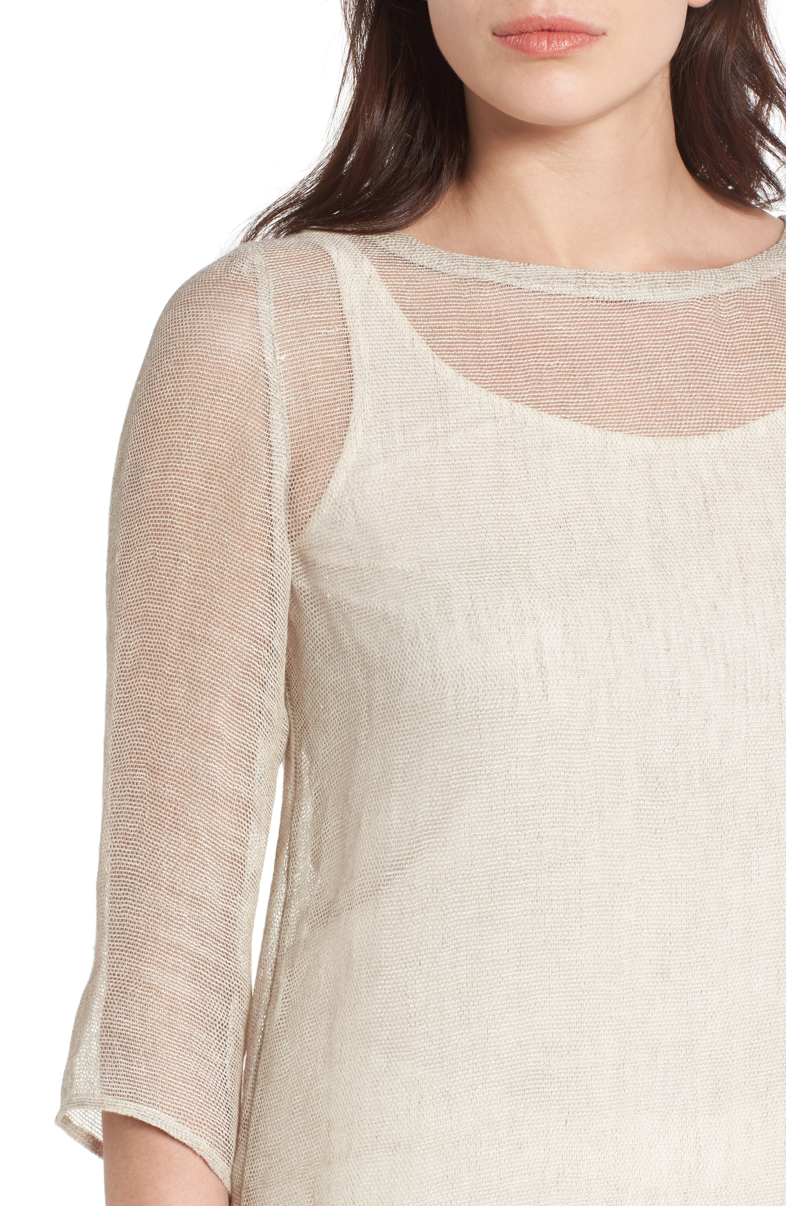 Organic Linen Blend Tunic,                             Alternate thumbnail 15, color,