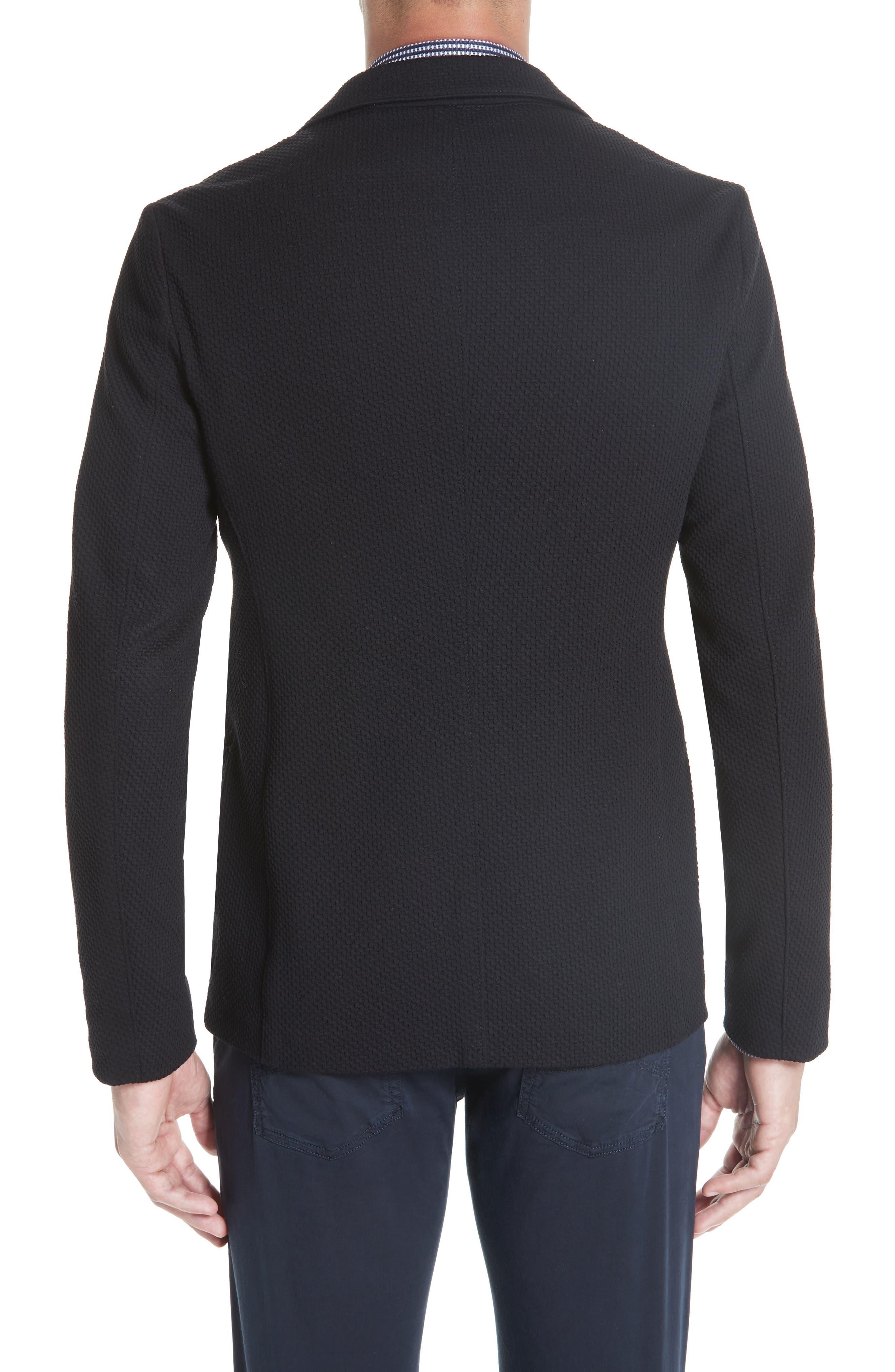 Slim Fit Stretch Cotton Blend Sport Coat,                             Alternate thumbnail 2, color,                             BLACK