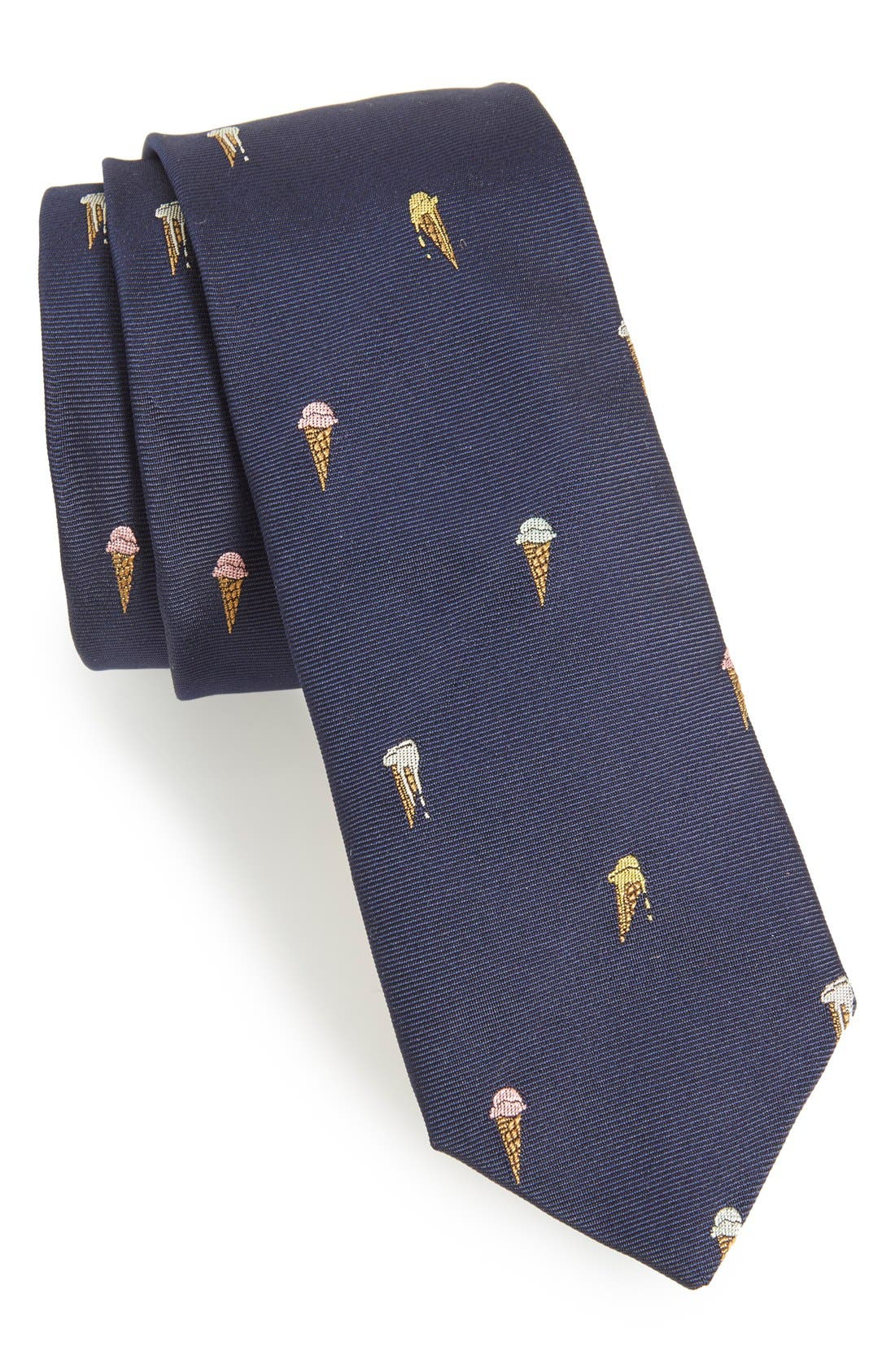 PAUL SMITH Ice Cream Cone Silk Tie, Main, color, 414