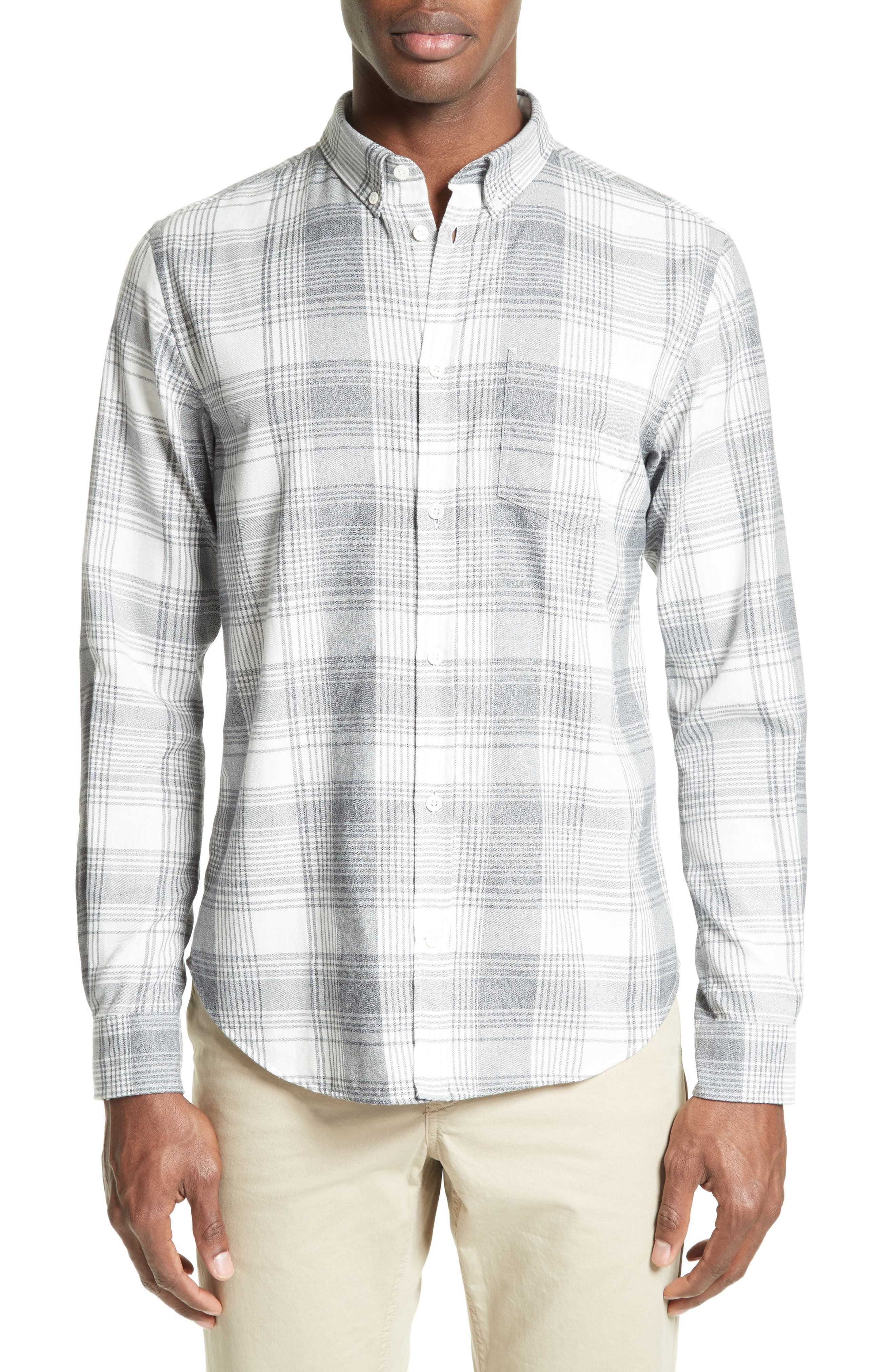 Woven Check Sport Shirt,                             Main thumbnail 1, color,                             410