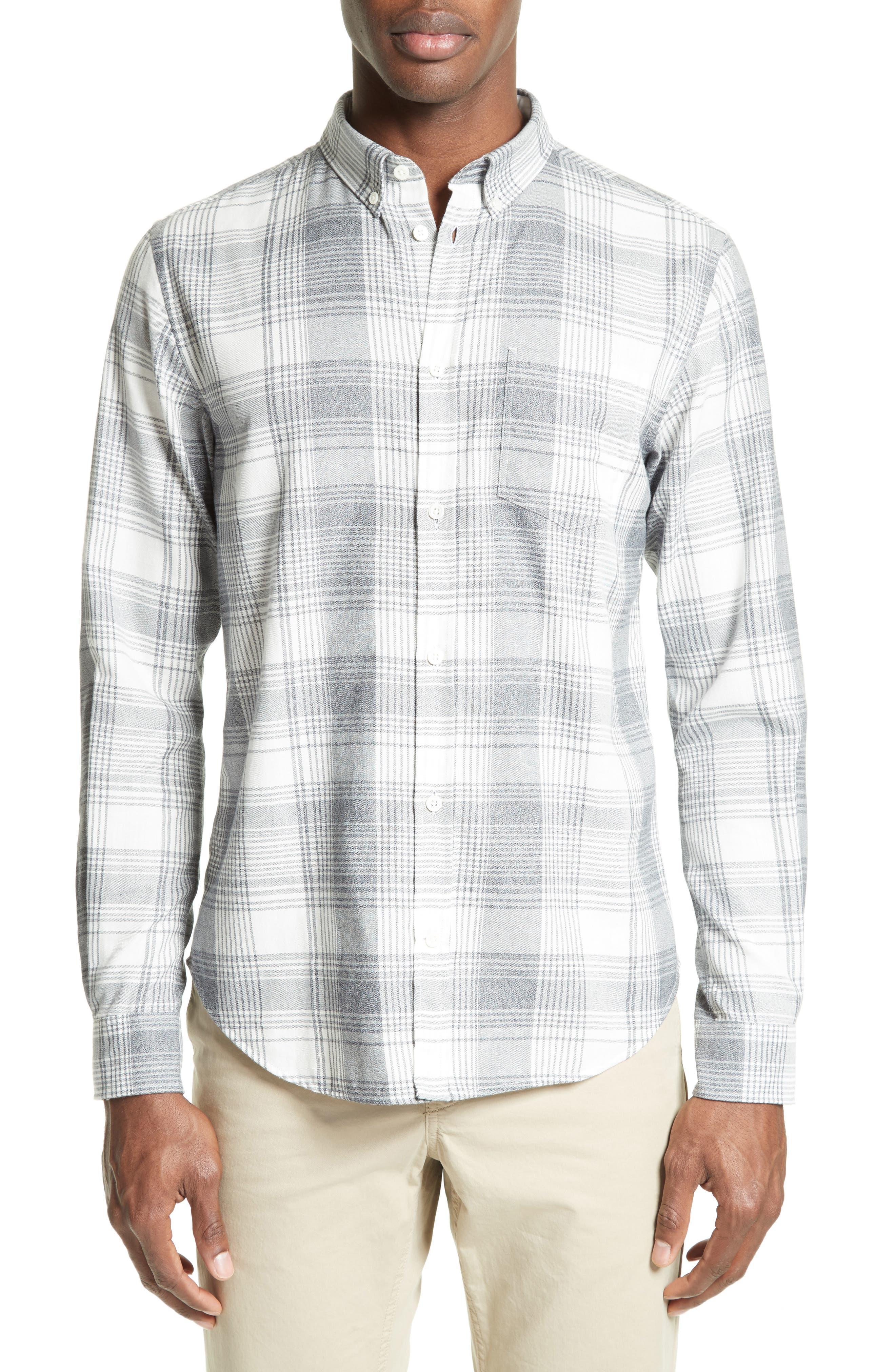 Woven Check Sport Shirt,                         Main,                         color, 410