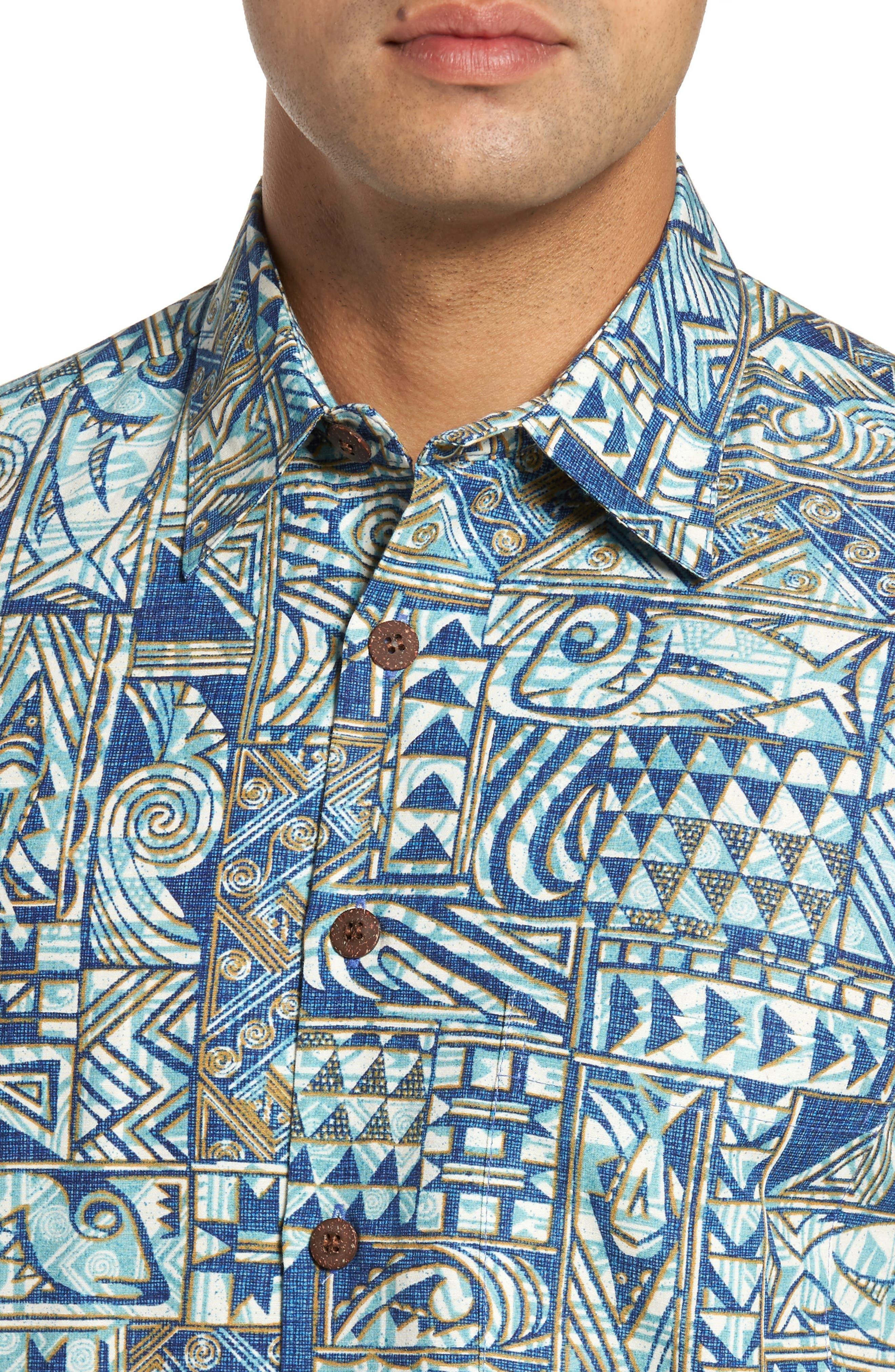 Ehukai Classic Fit Print Sport Shirt,                             Alternate thumbnail 8, color,