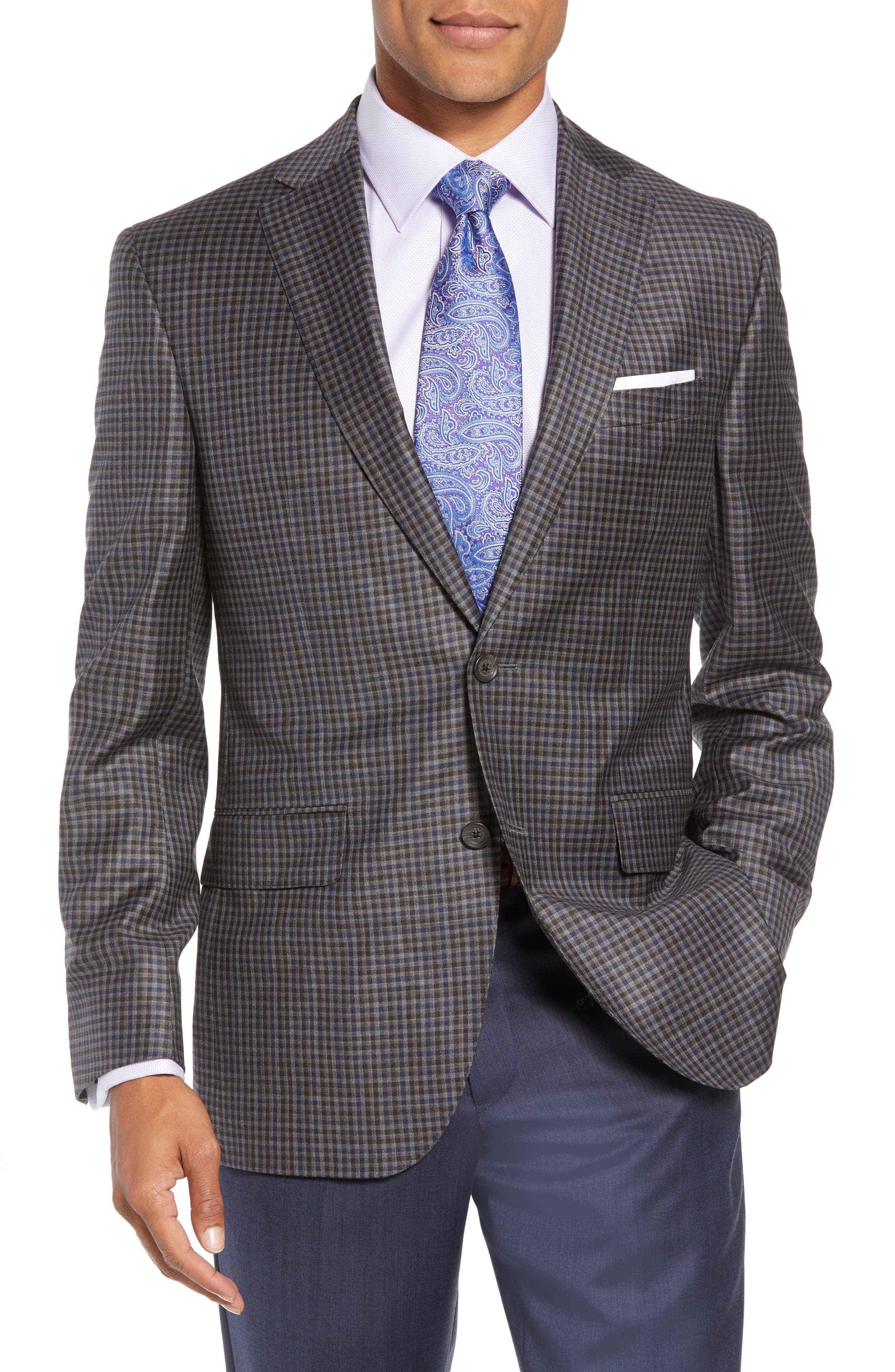 Connor Classic Fit Check Wool Sport Coat,                             Main thumbnail 1, color,                             020