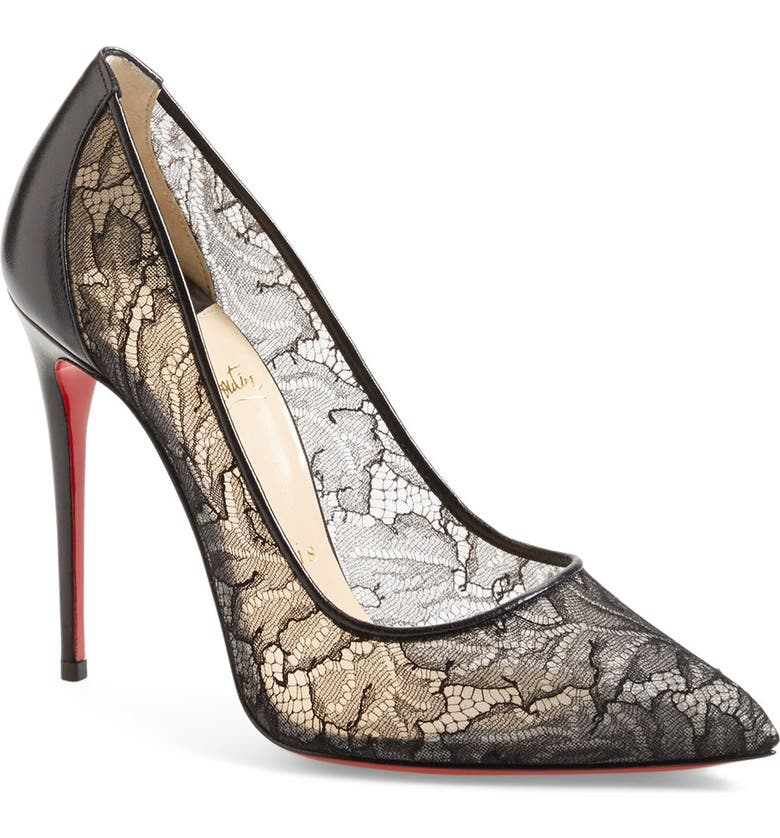 Christian Louboutin  Follies  Lace Pointy Toe Pump  a83786559