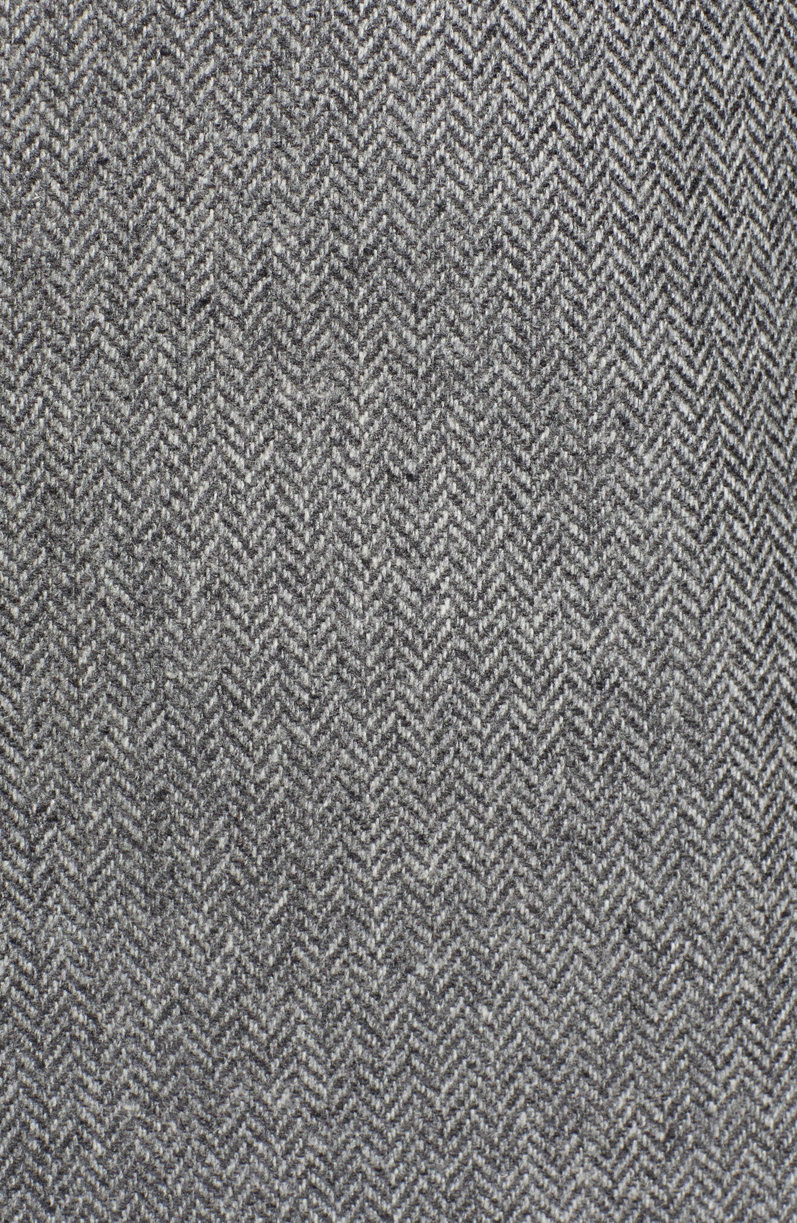 Dual Look Herringbone Jacket,                             Alternate thumbnail 6, color,                             LIGHT GREY