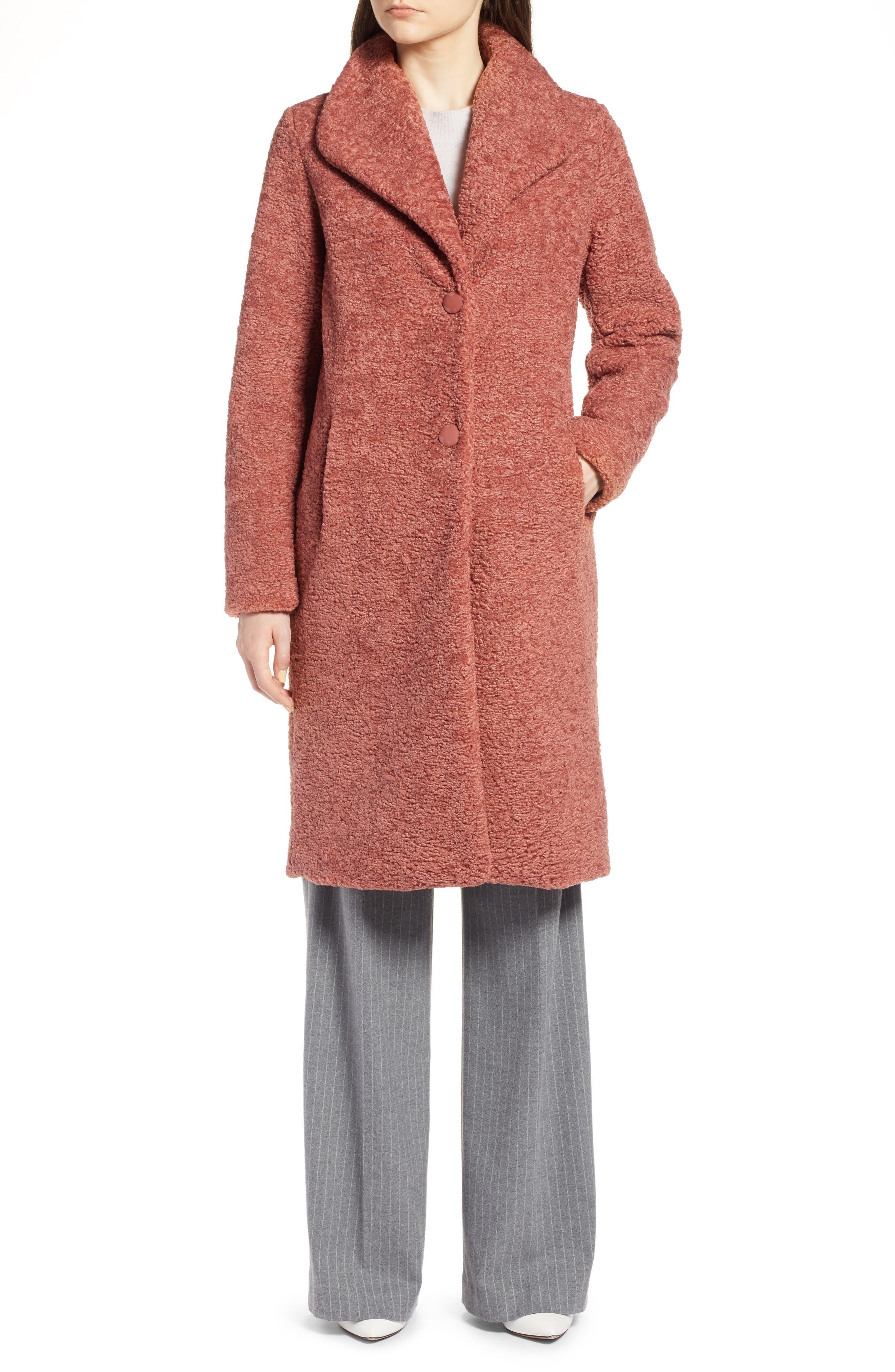 HALOGEN<SUP>®</SUP>,                             Faux Fur Coat,                             Alternate thumbnail 5, color,                             630