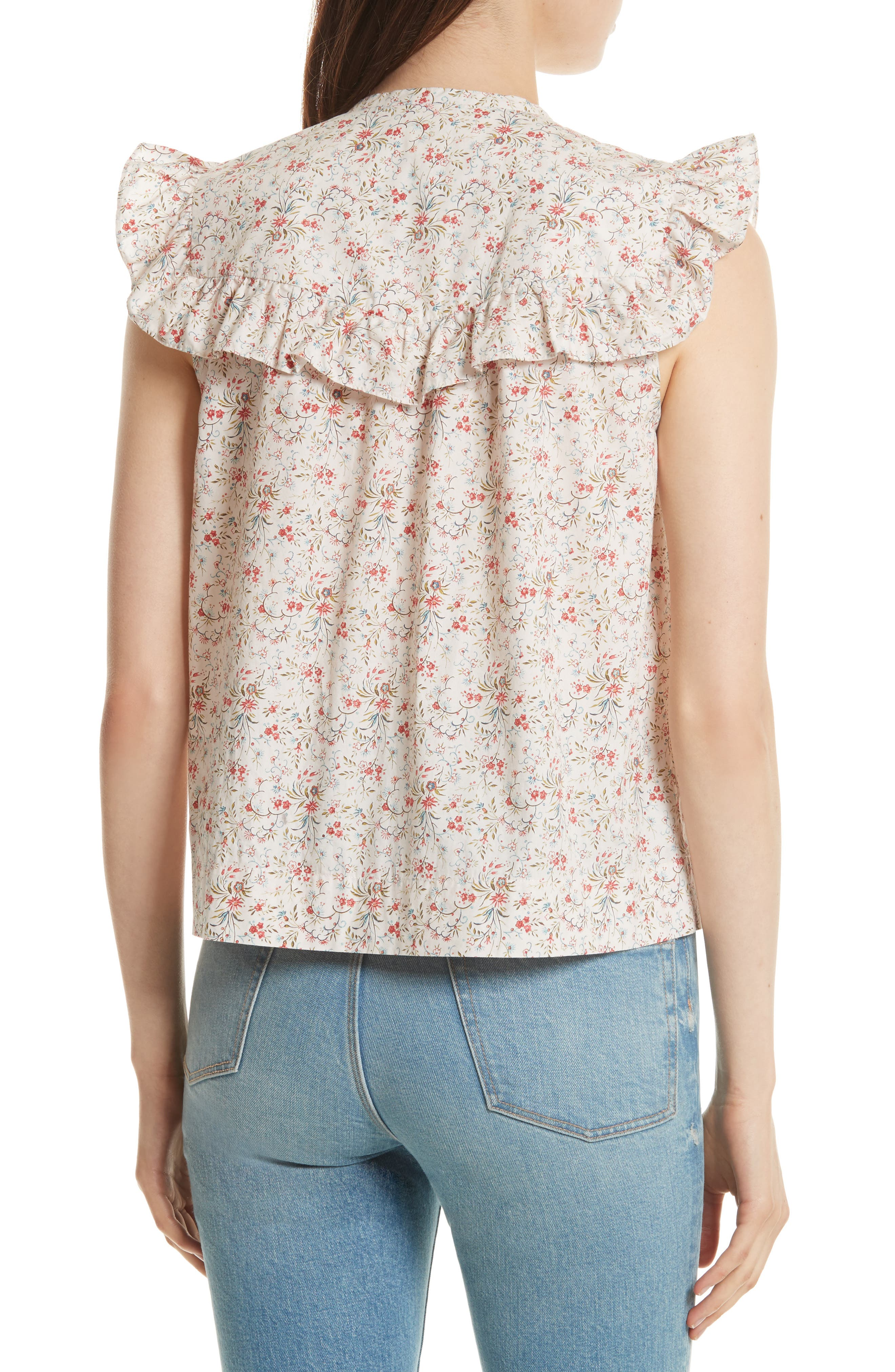 Brittany Sleeveless Floral Blouse,                             Alternate thumbnail 2, color,                             902