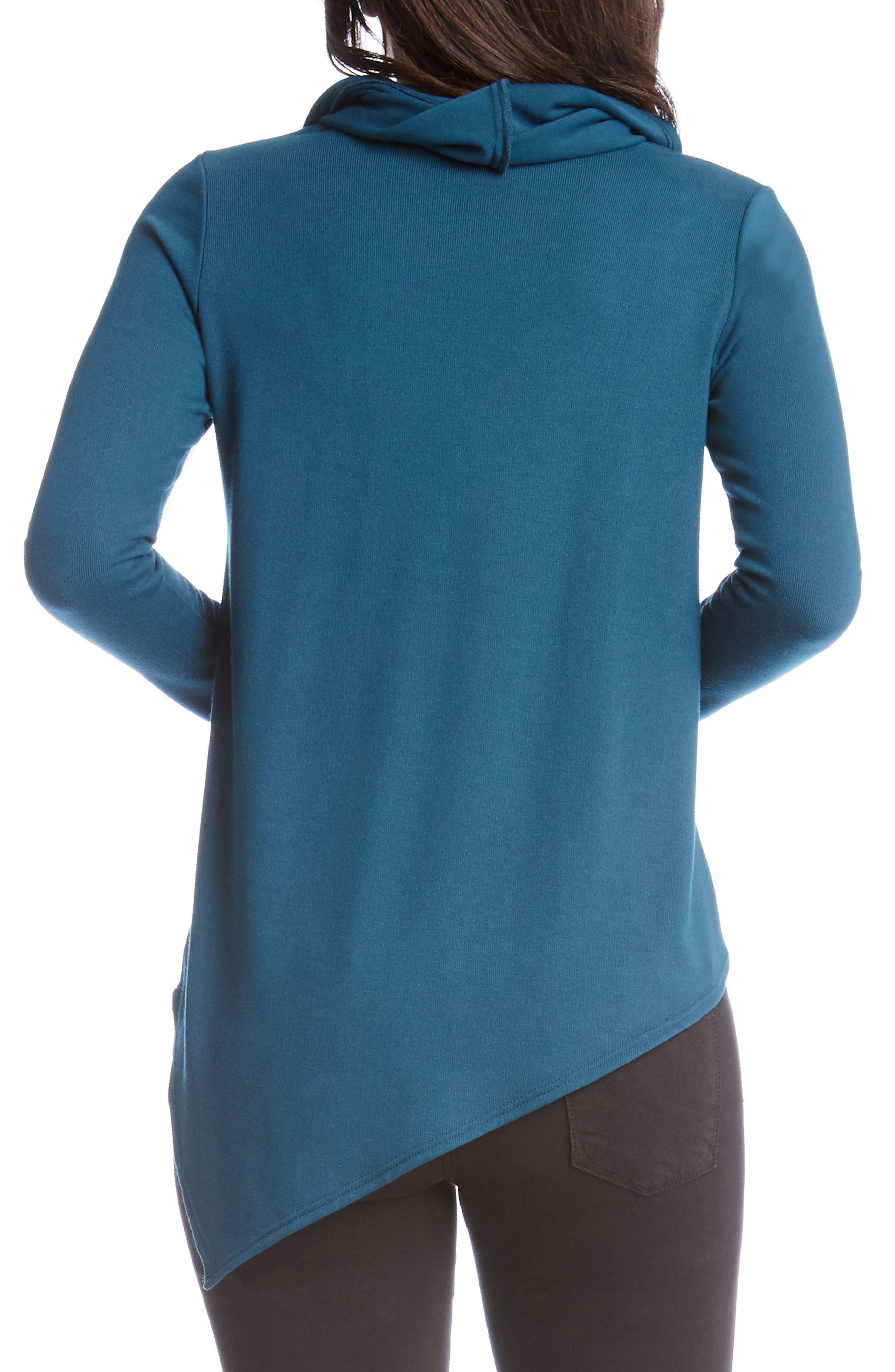 Cowl Neck Asymmetrical Sweater,                             Alternate thumbnail 2, color,                             340