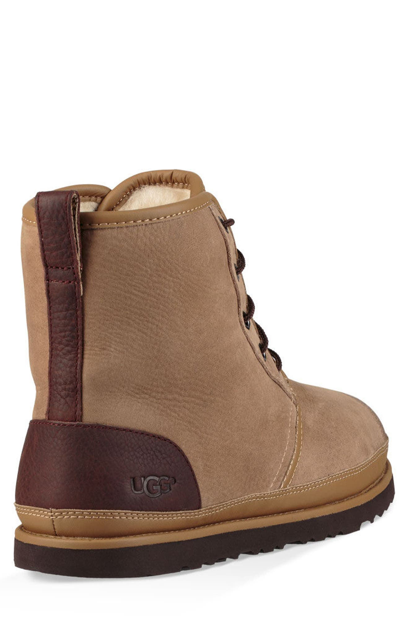 Harkley Waterproof Lace-Up Boot,                             Alternate thumbnail 2, color,                             DESERT TAN