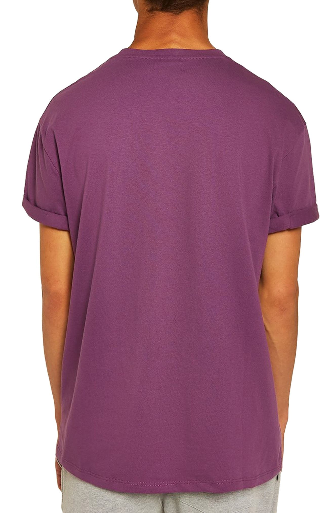 Oversize Fit Roller T-Shirt,                             Alternate thumbnail 2, color,                             PURPLE