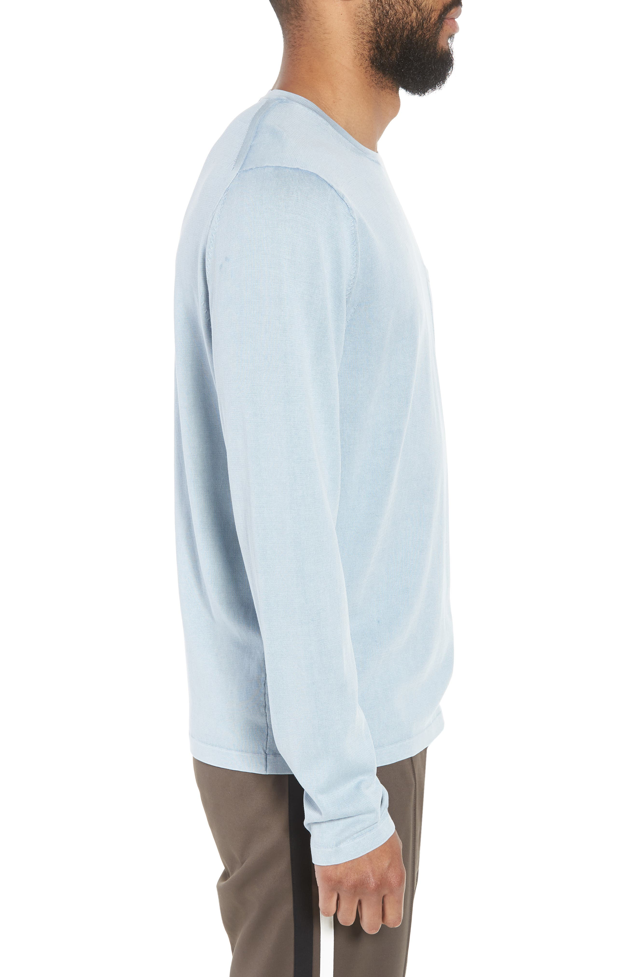 Crewneck Cotton Sweater,                             Alternate thumbnail 3, color,                             ARCTIC