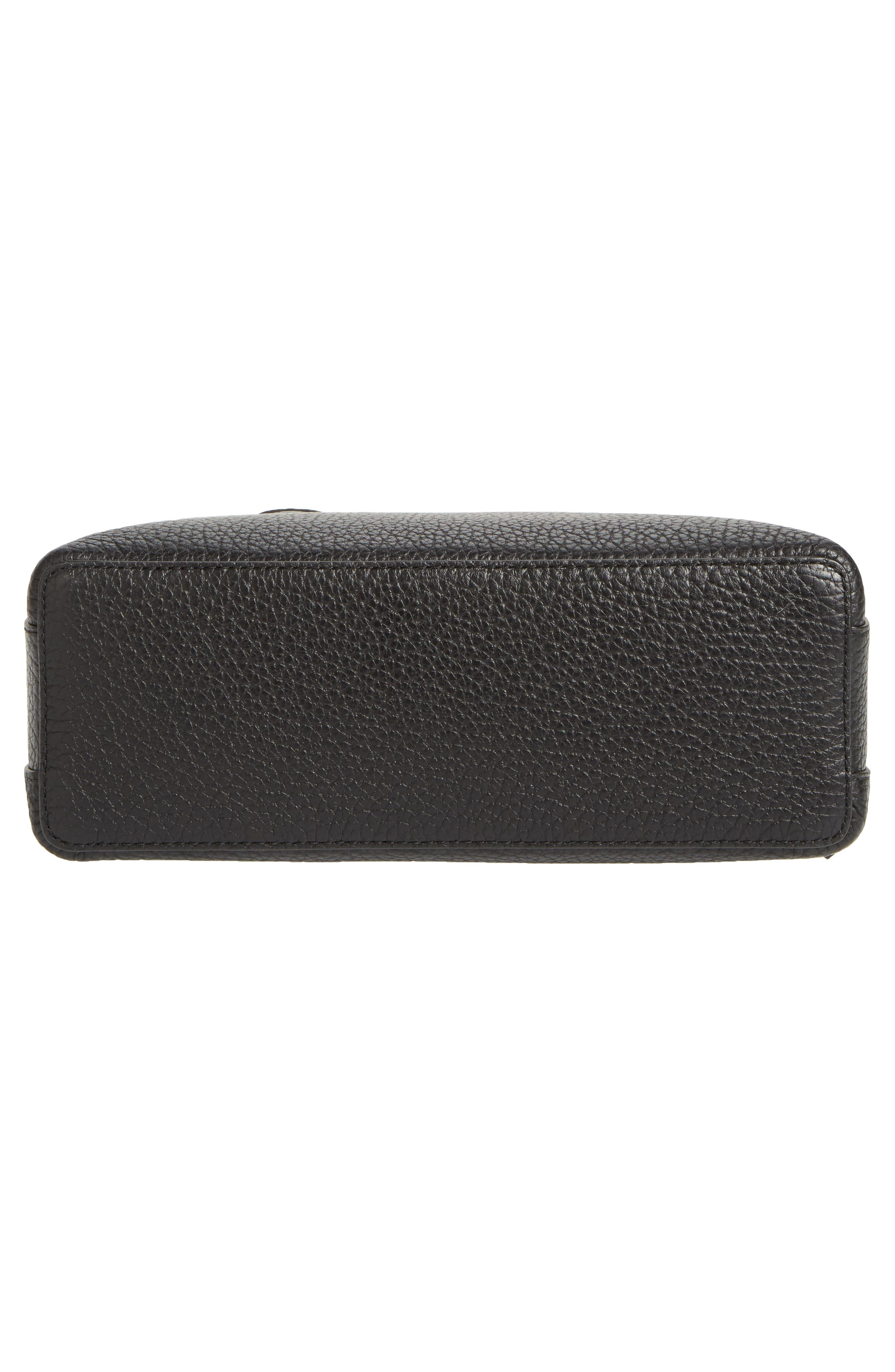 carter street - small ashleigh leather satchel,                             Alternate thumbnail 6, color,                             001