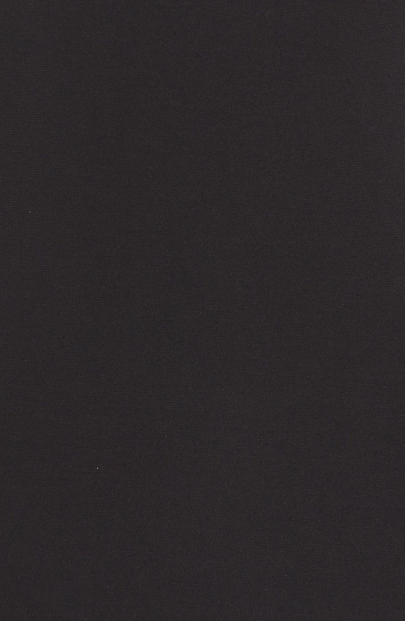 A-Line Gown,                             Alternate thumbnail 5, color,                             BLACK