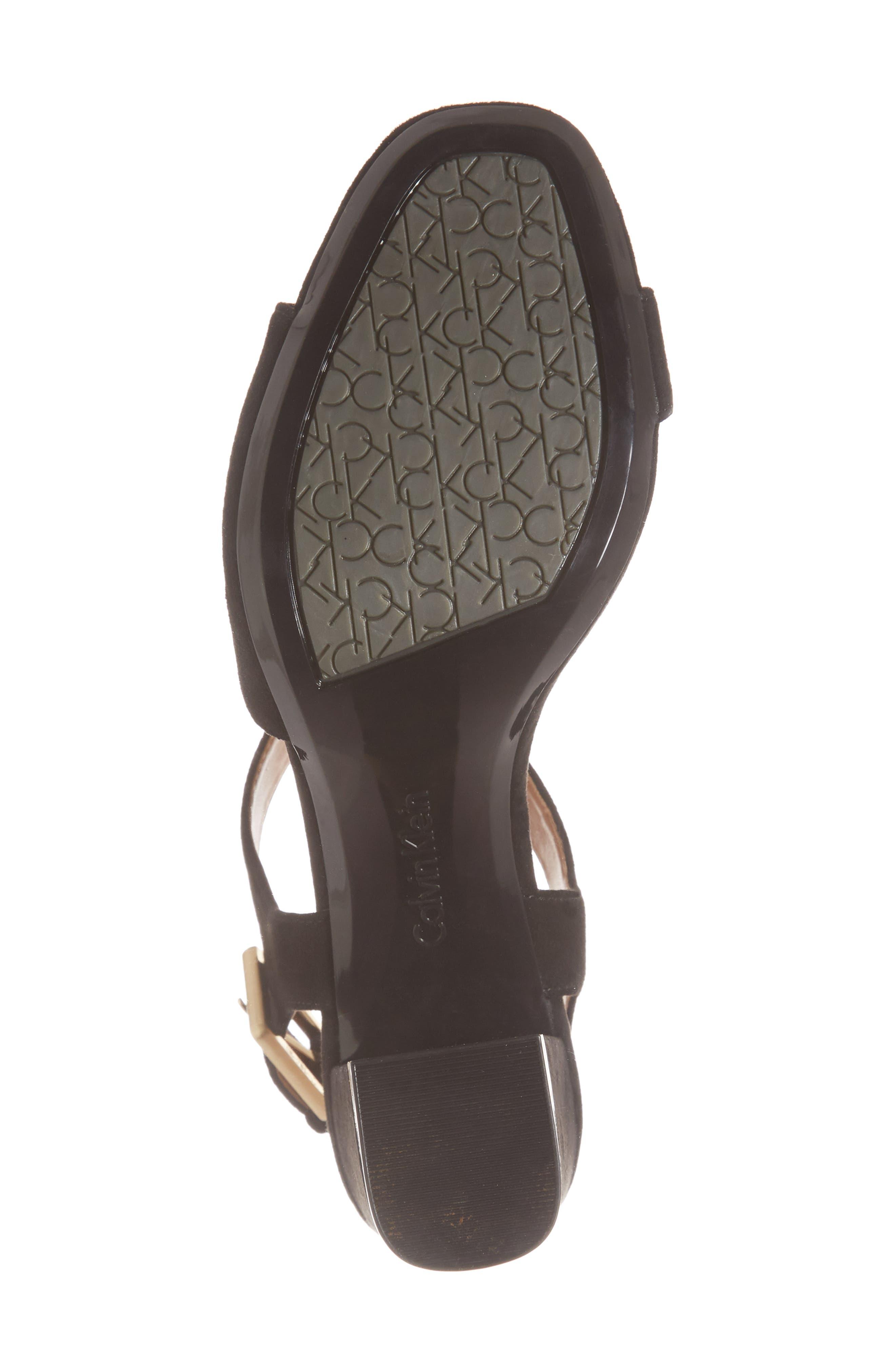 Chantay Asymmetrical Sandal,                             Alternate thumbnail 6, color,                             001