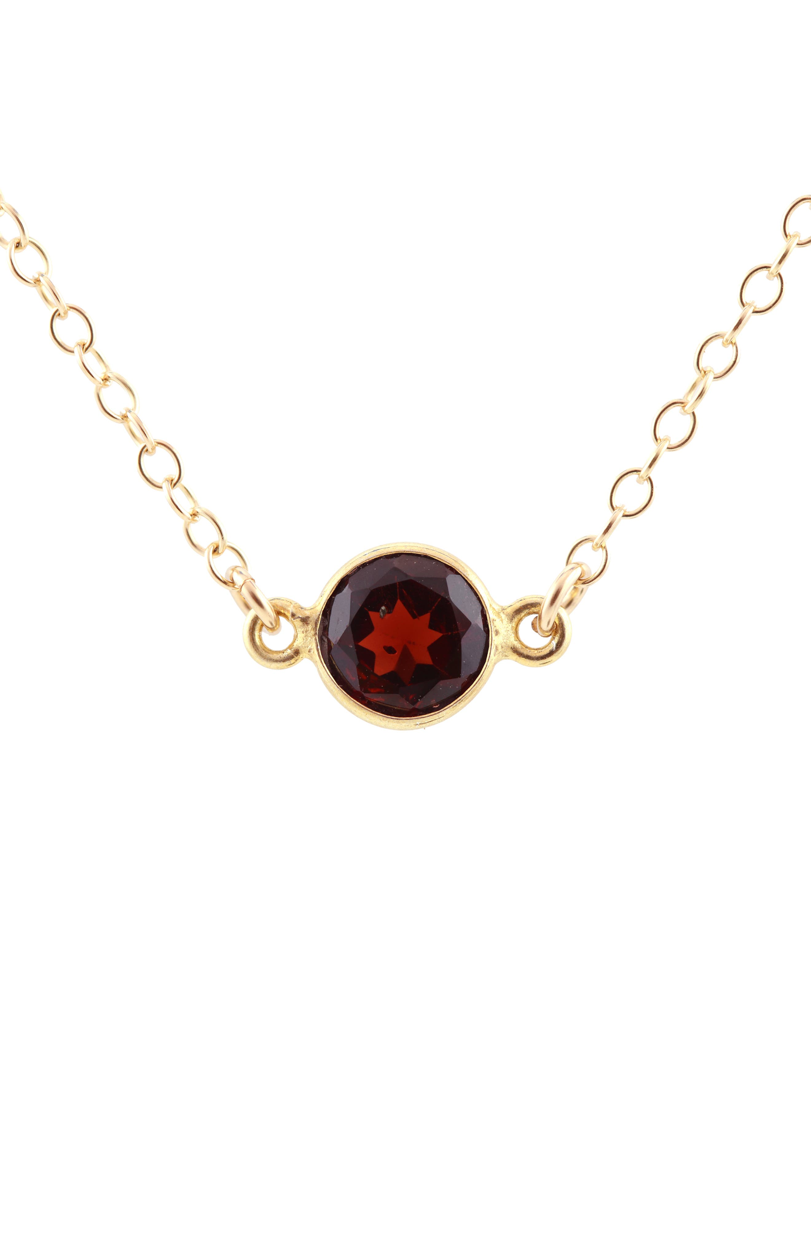 Birthstone Necklace,                         Main,                         color, JANUARY - GARNET