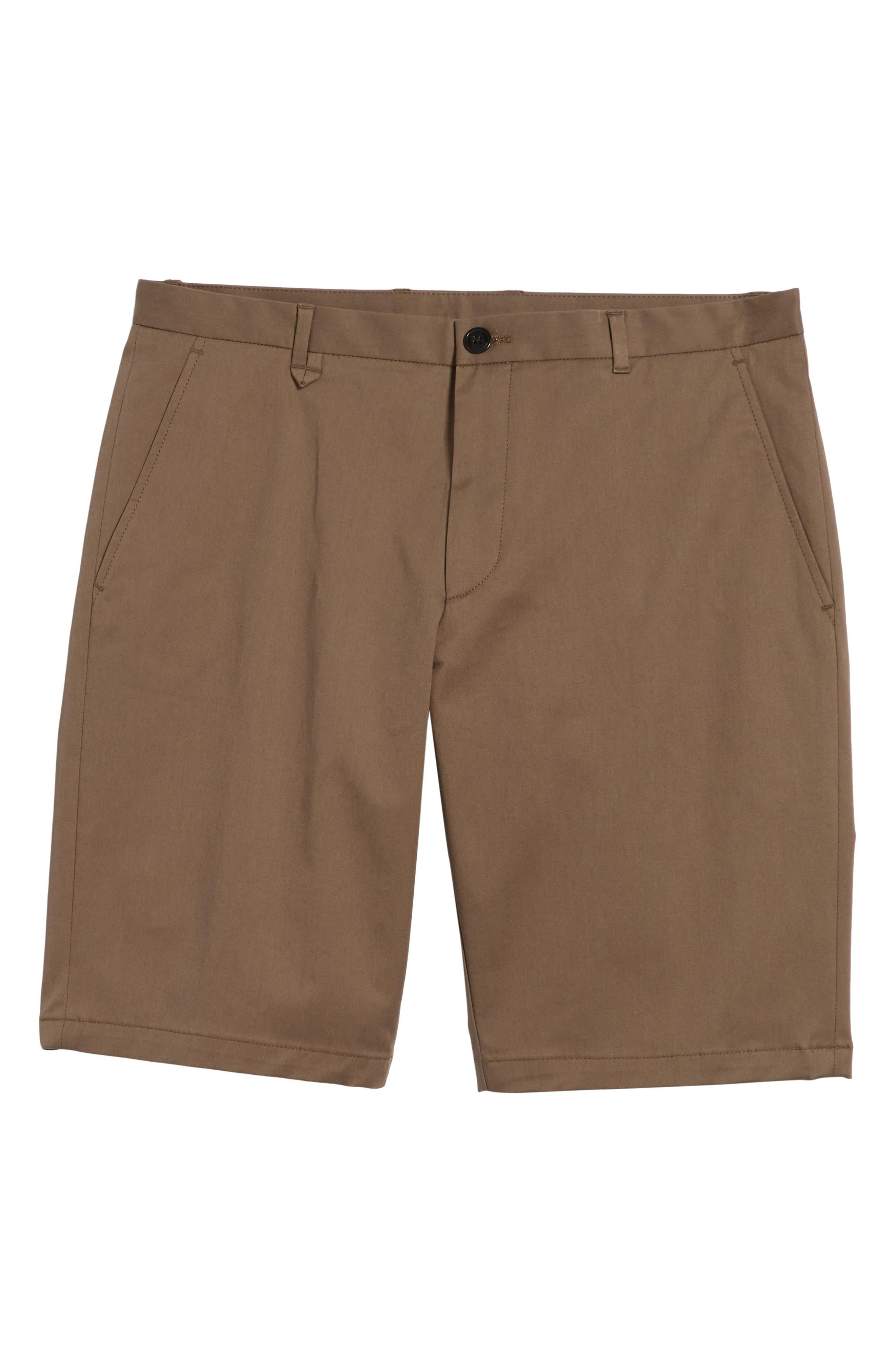 HUGO,                             Hano Flat Front Shorts,                             Alternate thumbnail 6, color,                             250