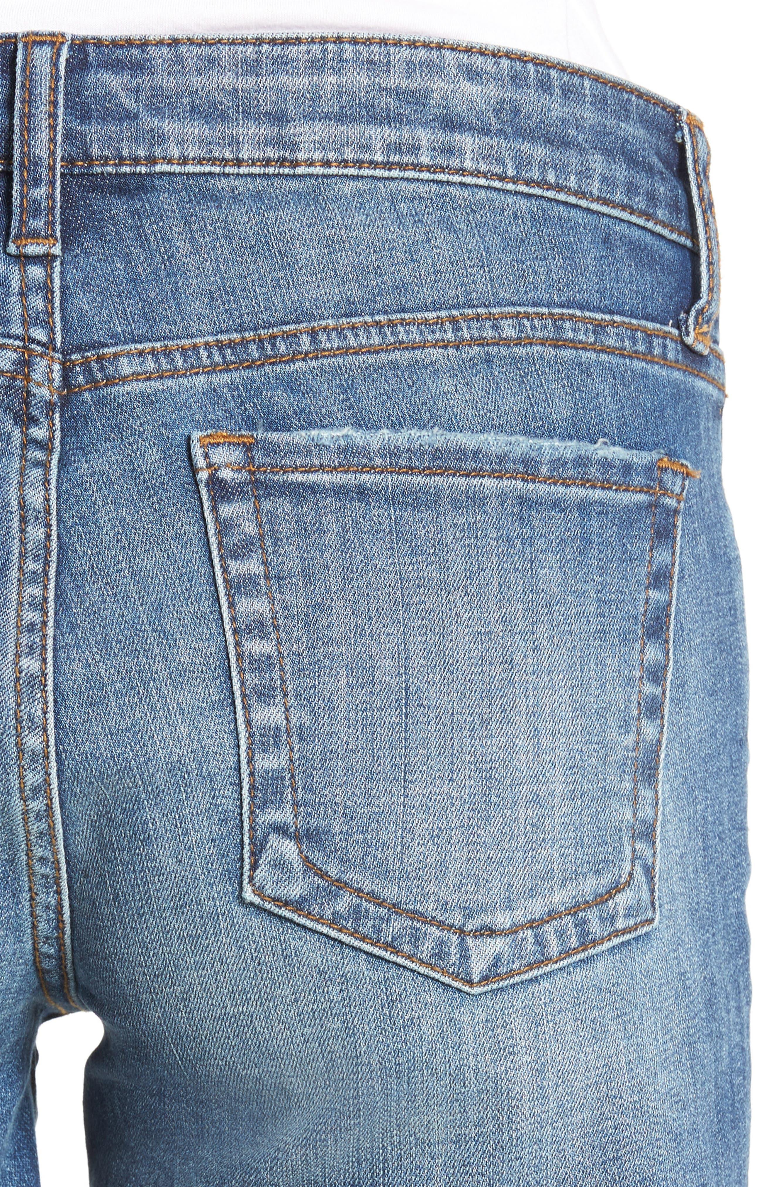 Gidget Denim Shorts,                             Alternate thumbnail 4, color,                             CONSOLIDATED