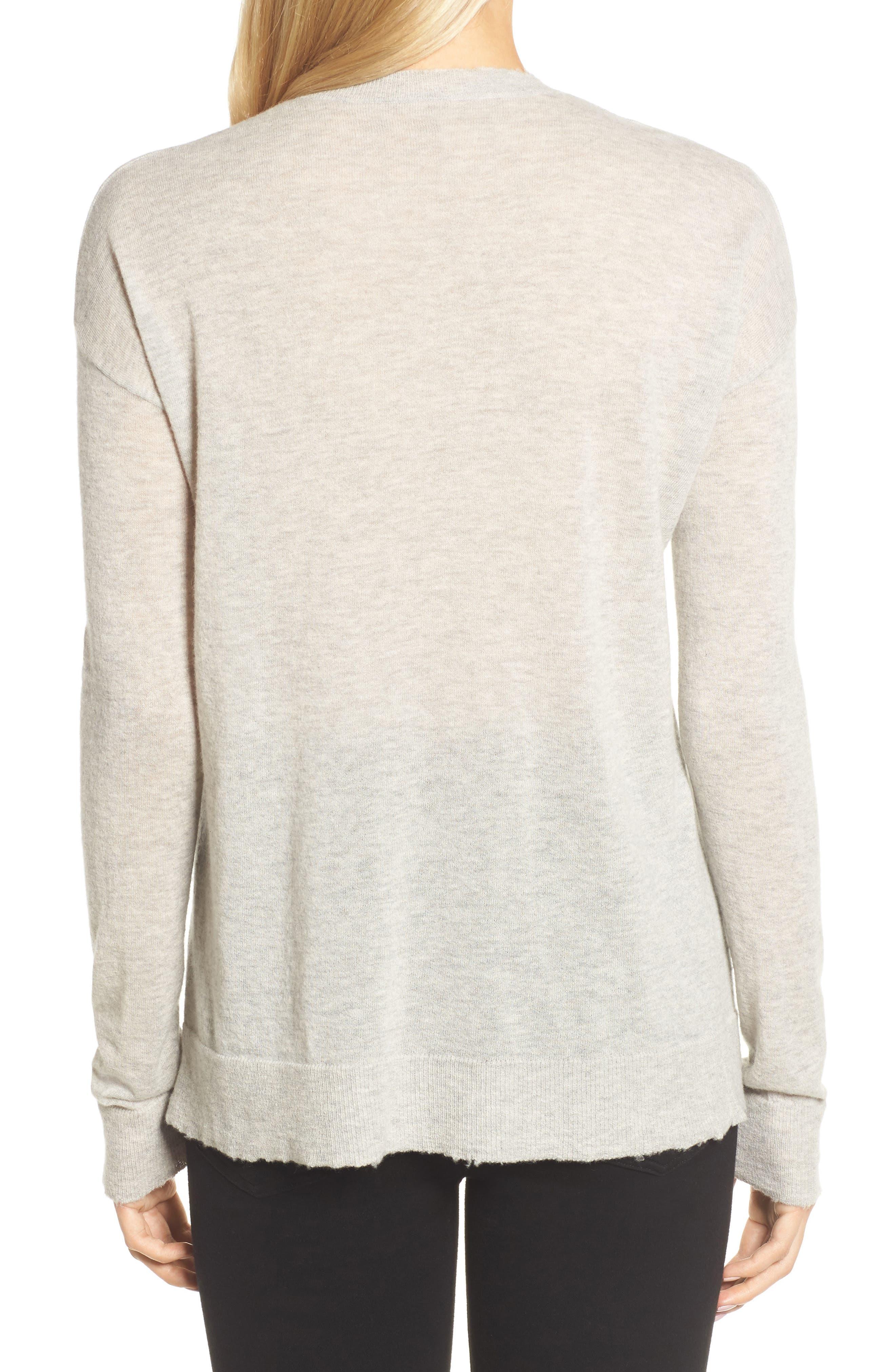 V-Neck Cashmere Sweater,                             Alternate thumbnail 2, color,                             254