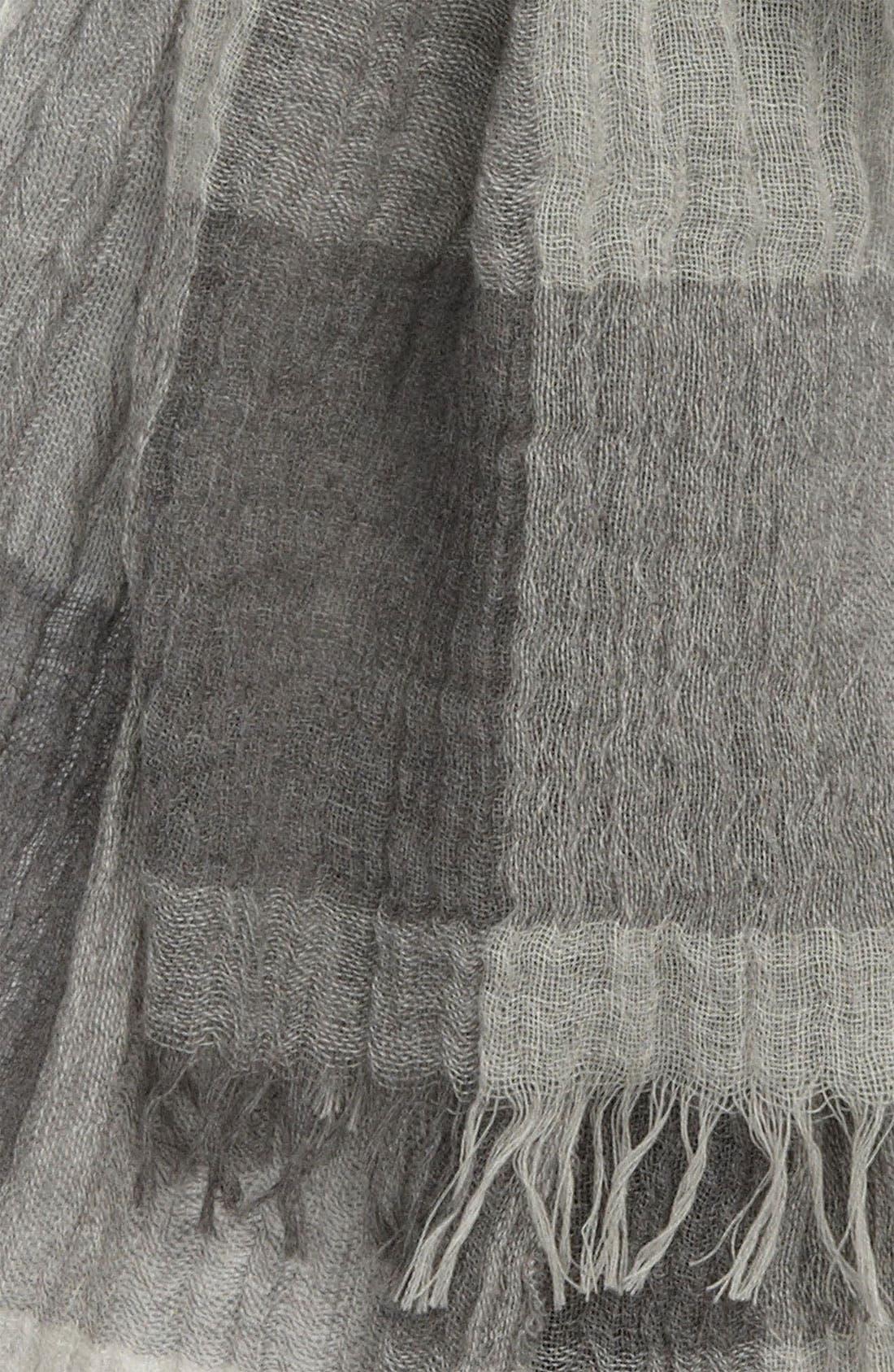 Buffalo Plaid Wool Scarf,                             Alternate thumbnail 2, color,