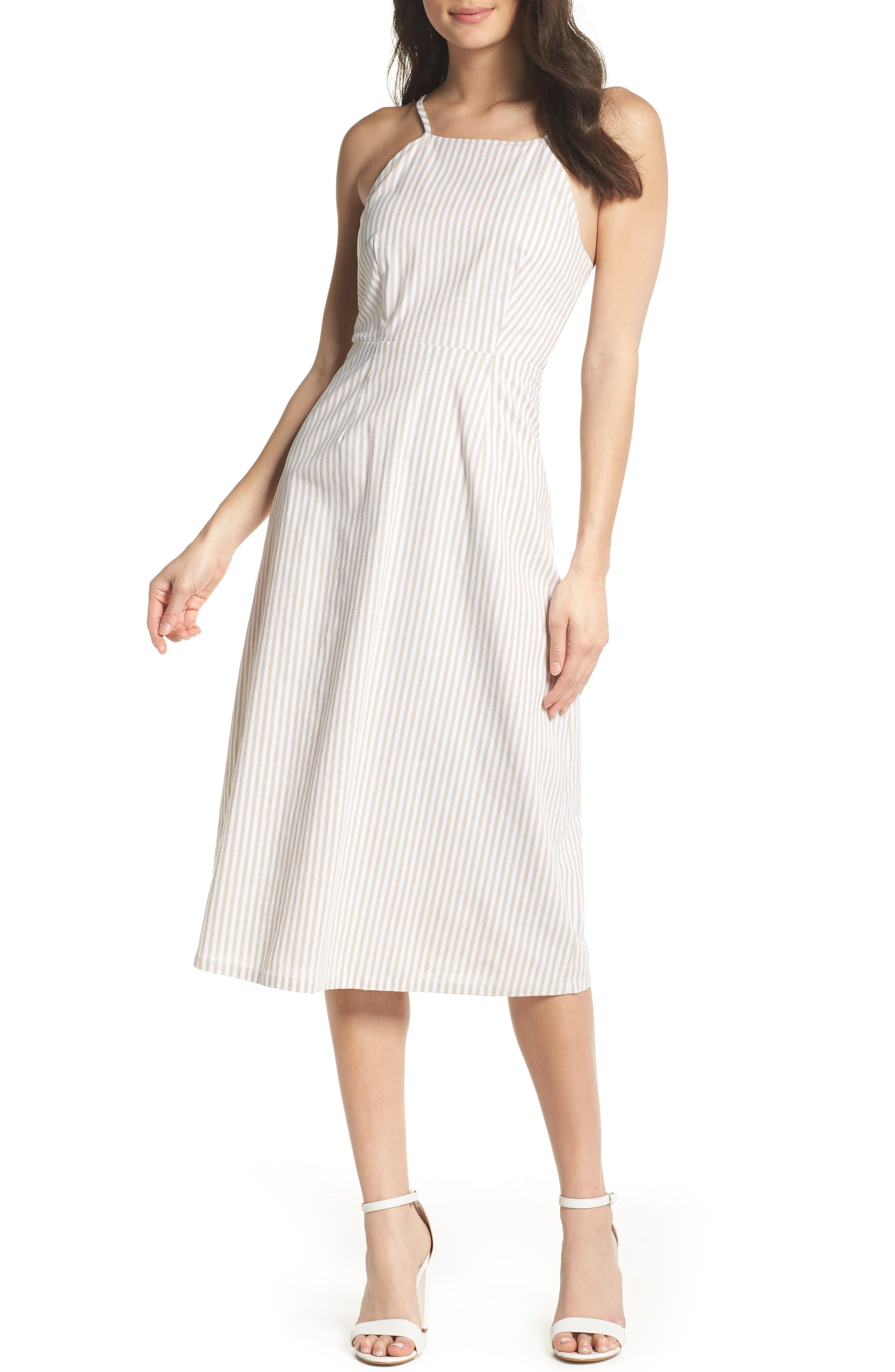 Halter Neck Midi Dress,                             Main thumbnail 1, color,                             250