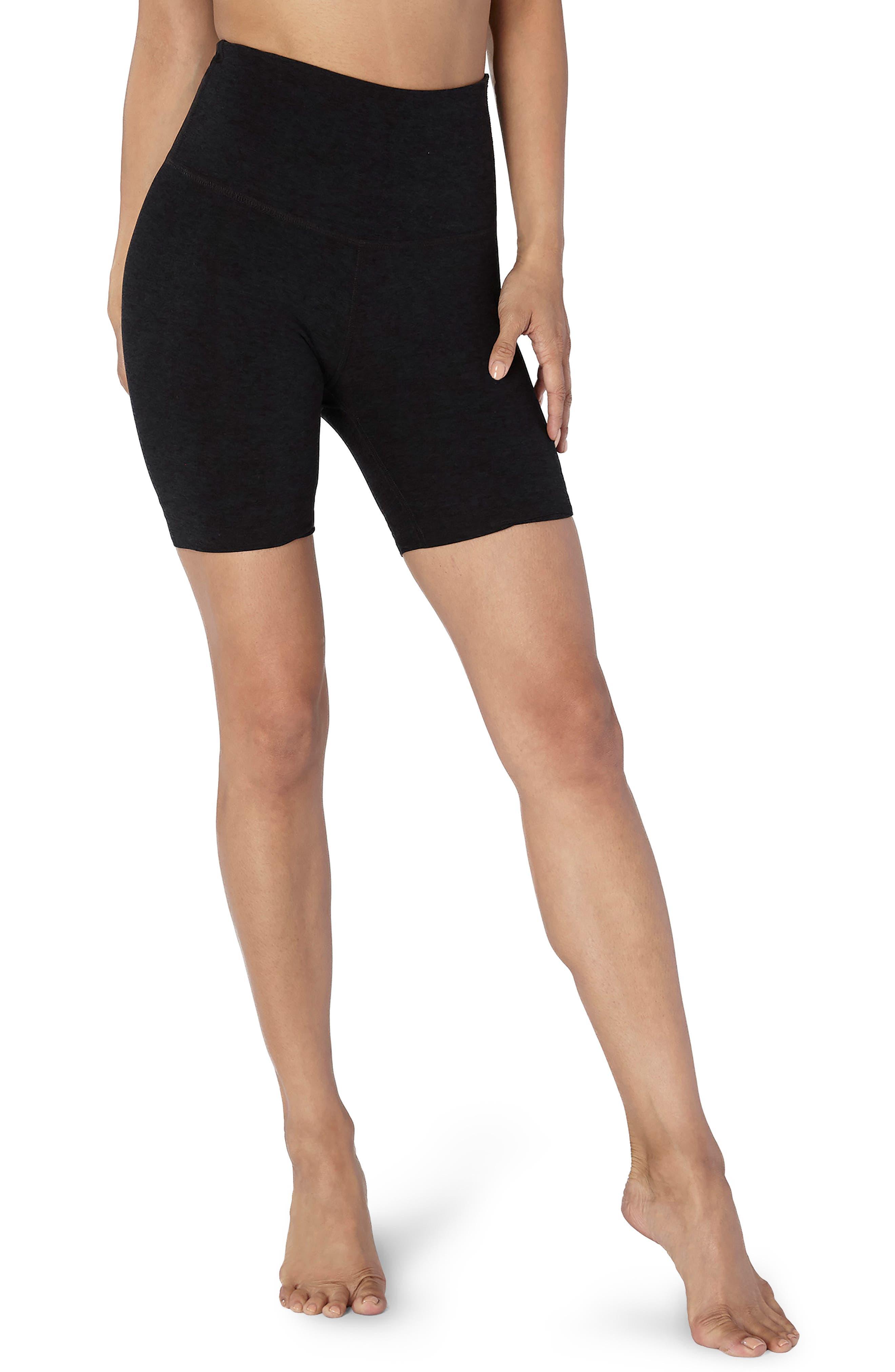 High Waist Biker Shorts,                         Main,                         color, DARKEST NIGHT