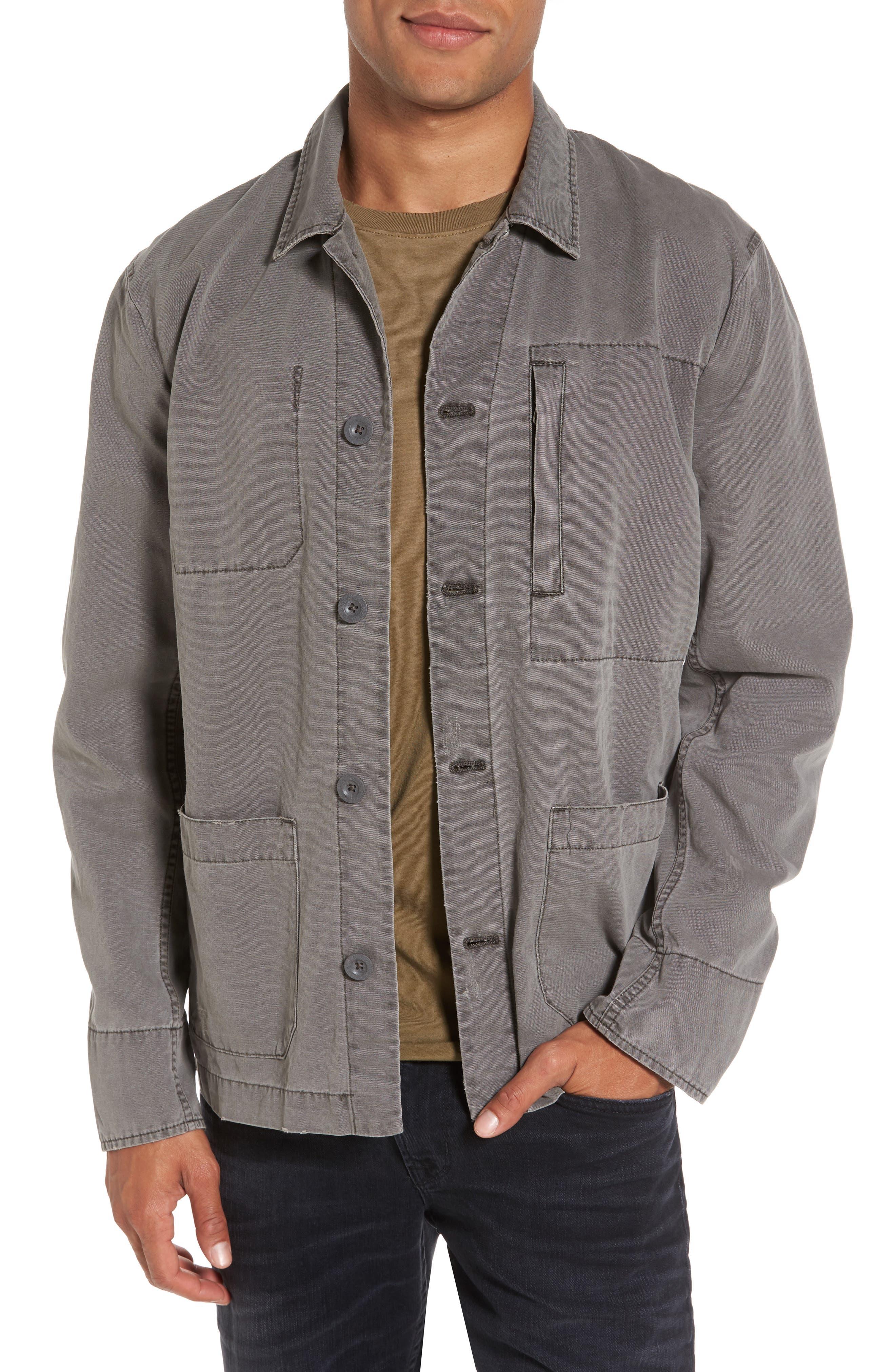 Marlon Canvas Shirt Jacket,                         Main,                         color, 035