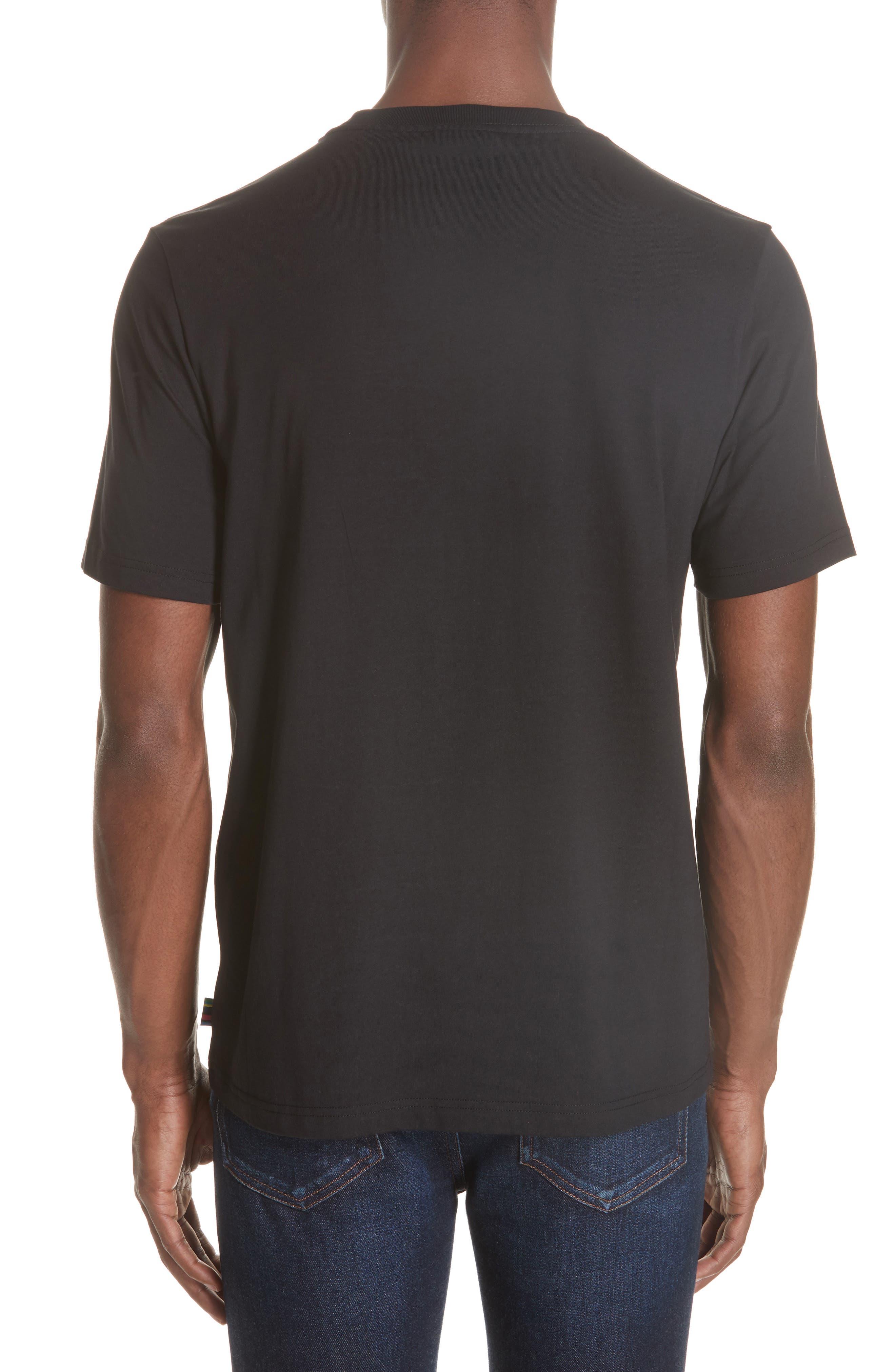 Noise Print T-Shirt,                             Alternate thumbnail 2, color,                             BLACK
