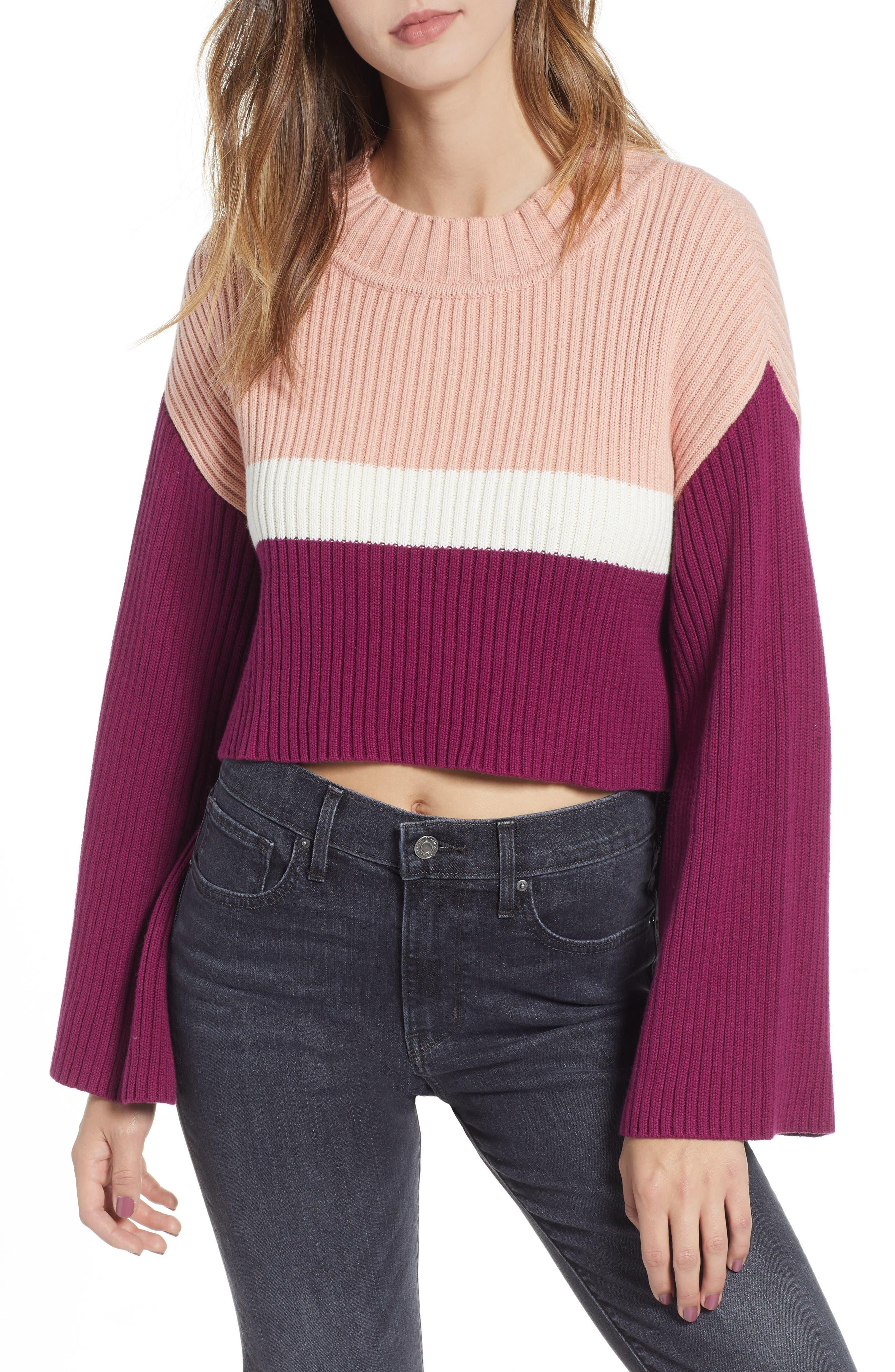 SOMEDAYS LOVIN Get It Girl High/Low Rib Sweater in Multi