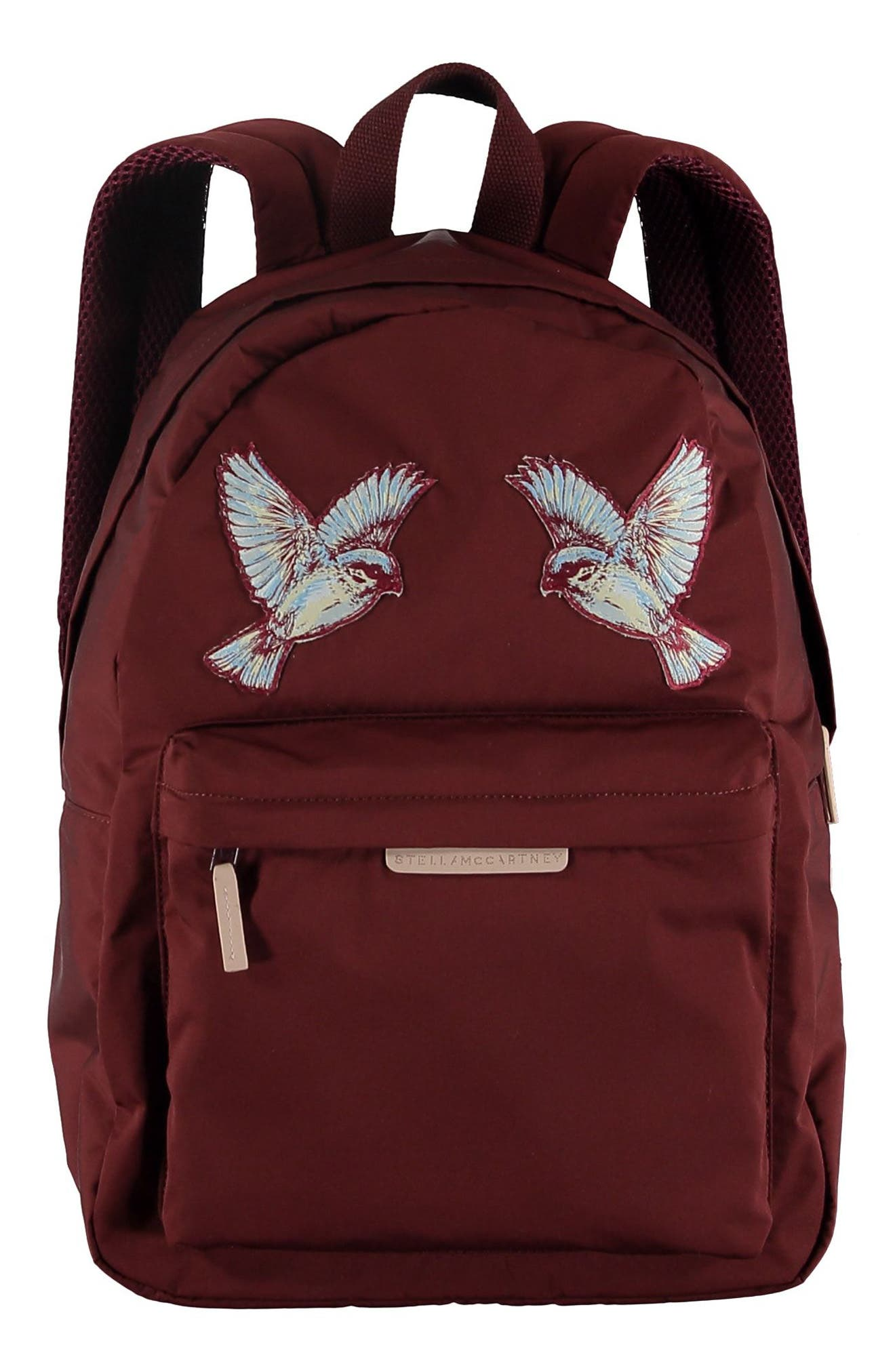 Hummingbird Appliqué Backpack,                             Main thumbnail 1, color,                             BURGUNDY