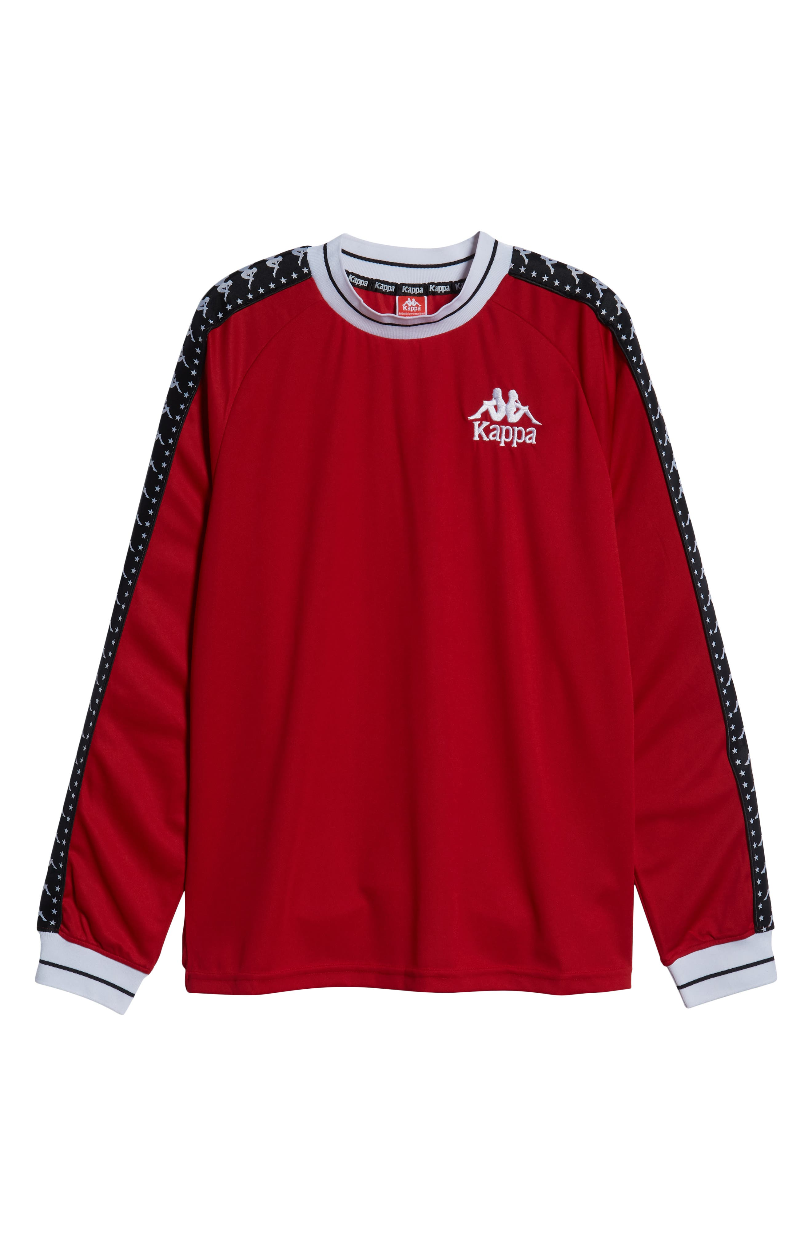 Authentic Aneat Logo Taped Long Sleeve T-Shirt,                             Alternate thumbnail 6, color,                             RED/ BLACK/ WHITE
