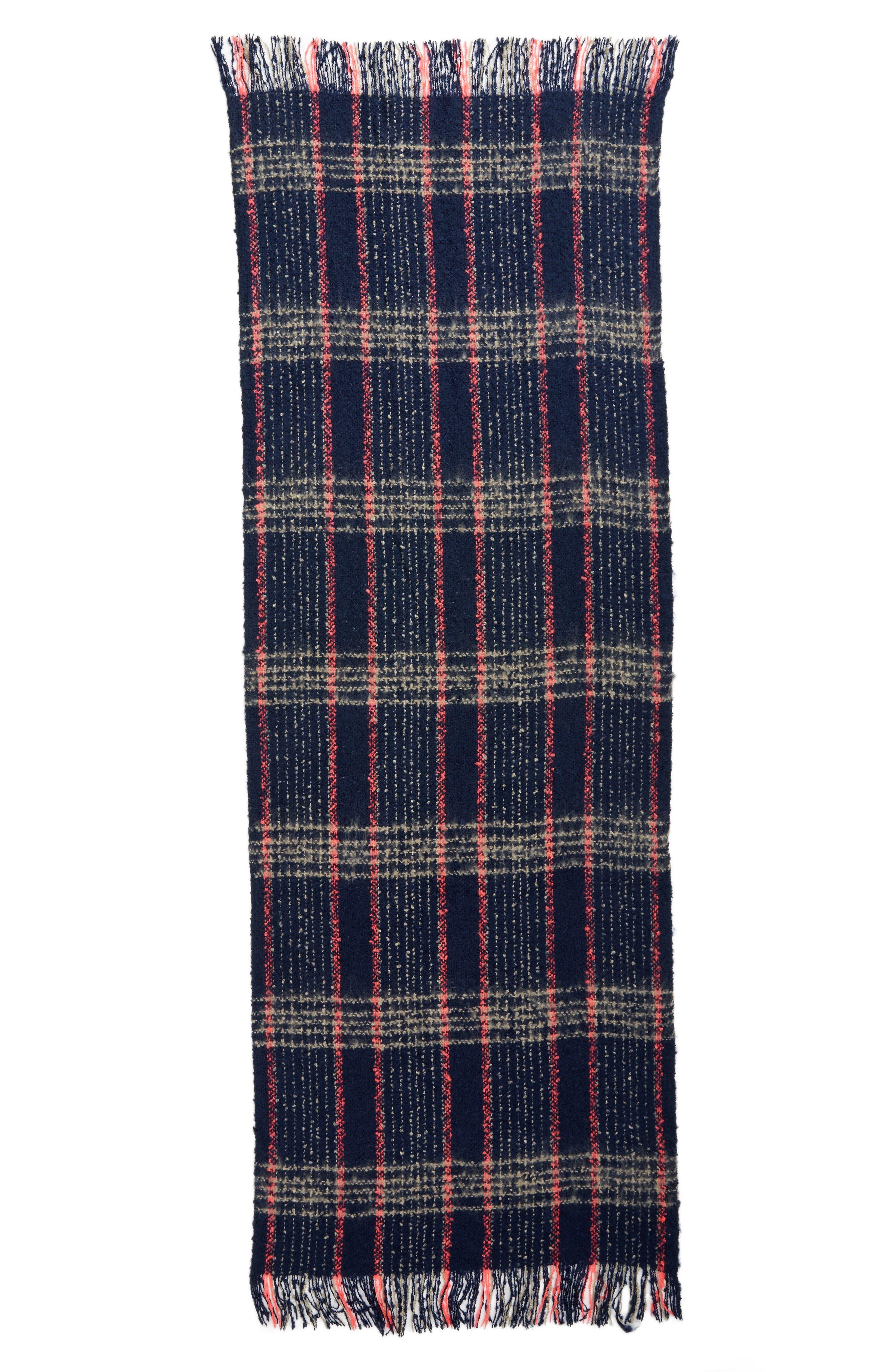 Speckled Check Blanket Scarf,                             Alternate thumbnail 3, color,                             400