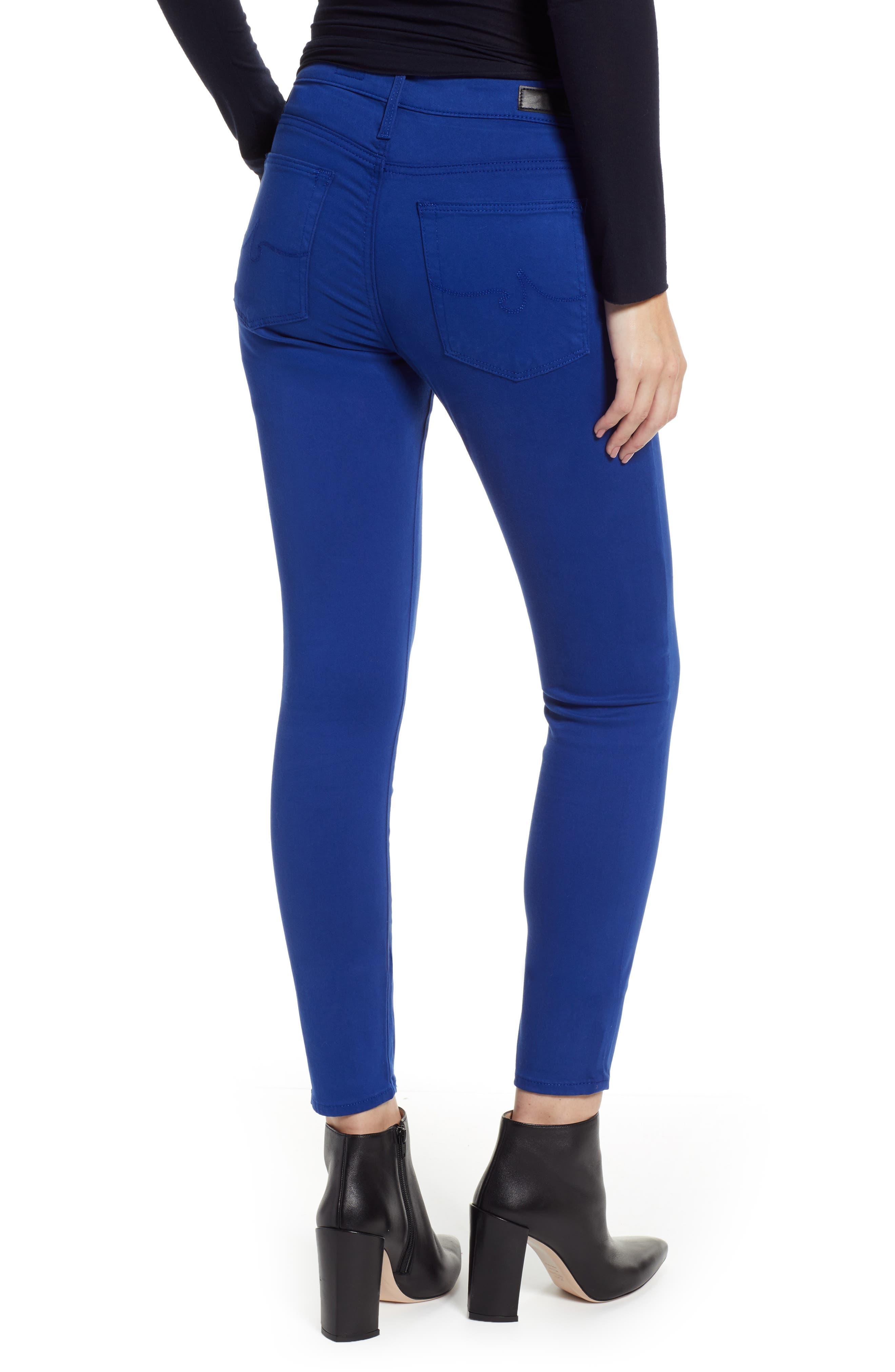 Farrah High Waist Ankle Skinny Jeans,                             Alternate thumbnail 2, color,                             EGYPTIAN BLUE