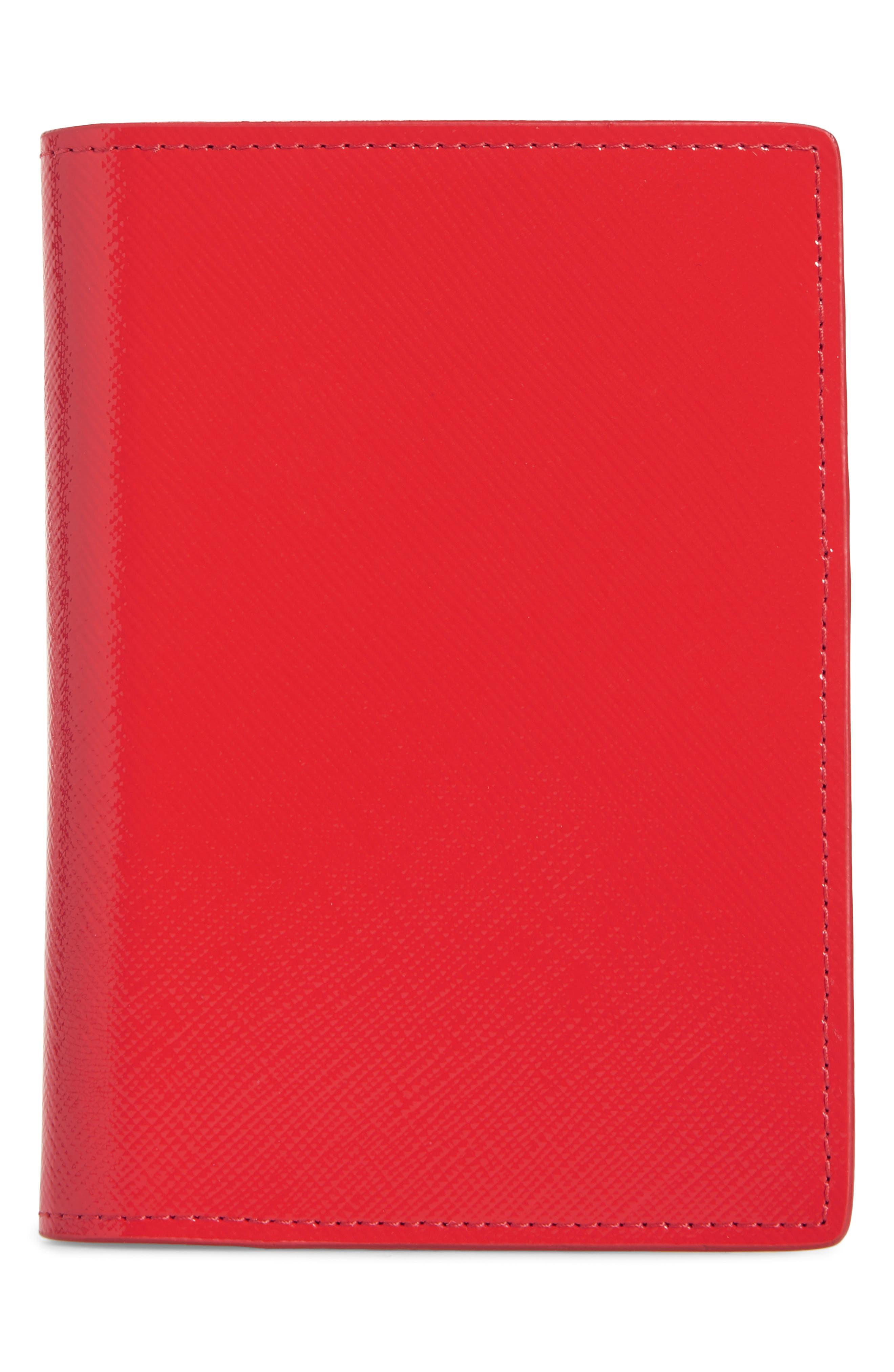 Leather Passport Case,                             Main thumbnail 6, color,