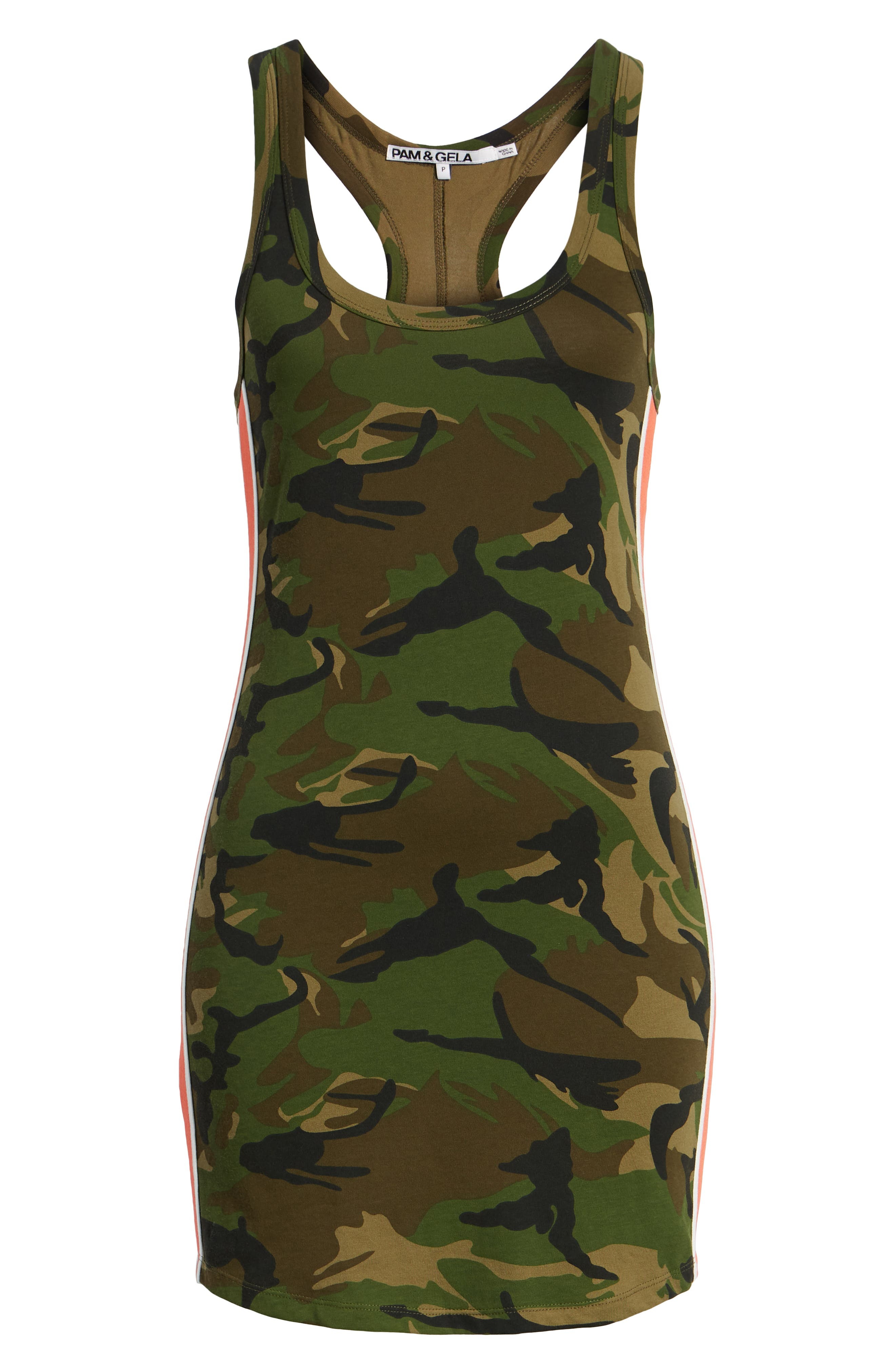 Camo Print Tank Dress,                             Alternate thumbnail 7, color,                             ARMY CAMO