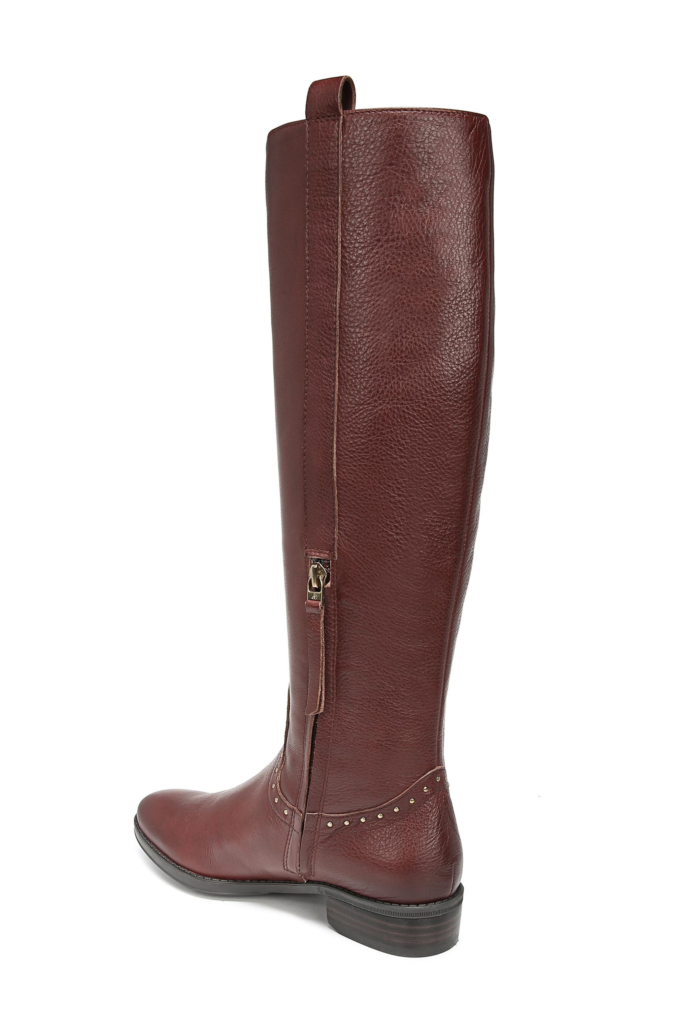 Prina Riding Boot,                             Alternate thumbnail 2, color,                             REDWOOD BROWN LEATHER