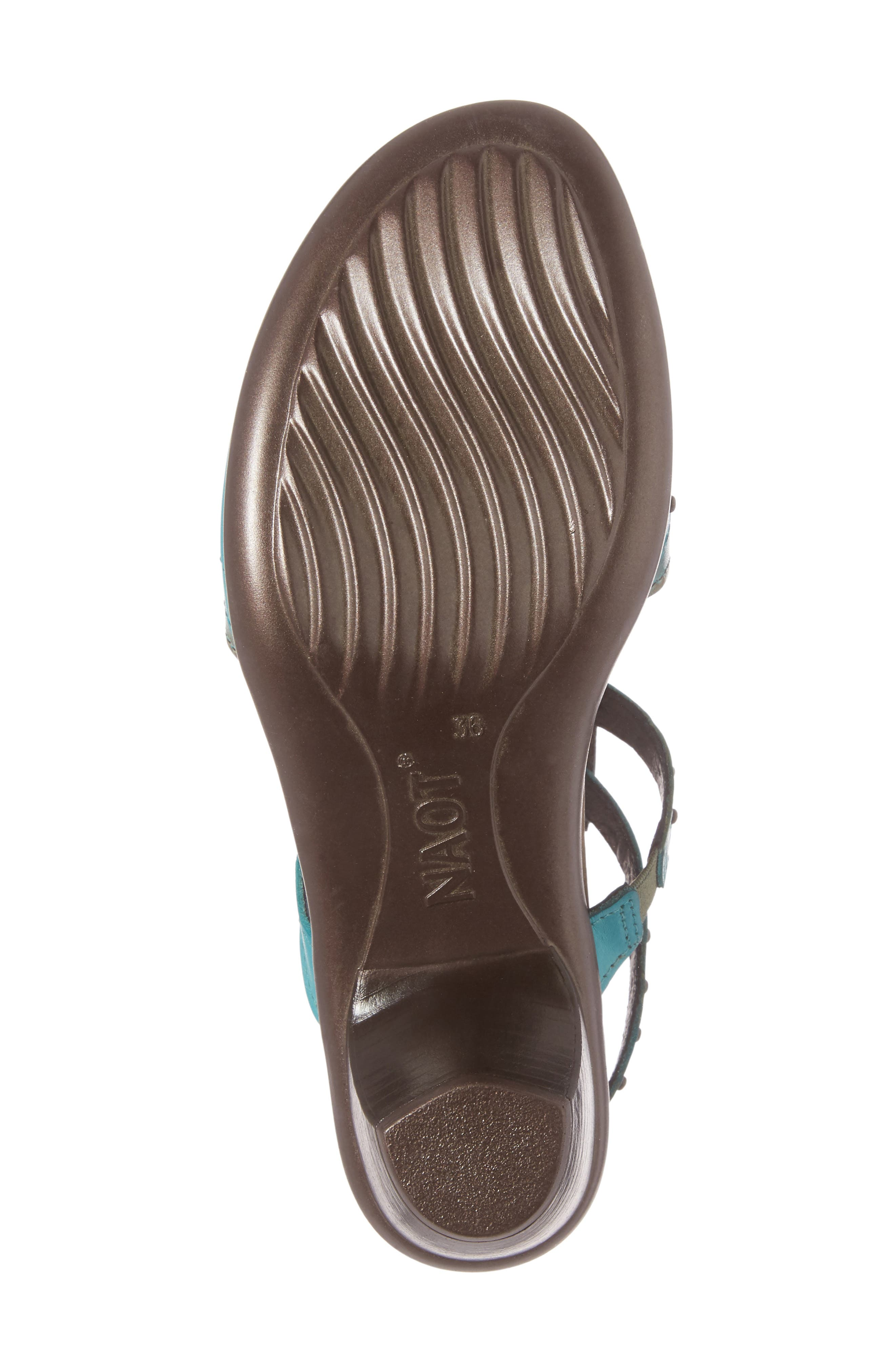 'Vogue' Sandal,                             Alternate thumbnail 6, color,                             TEAL BROWN LEATHER