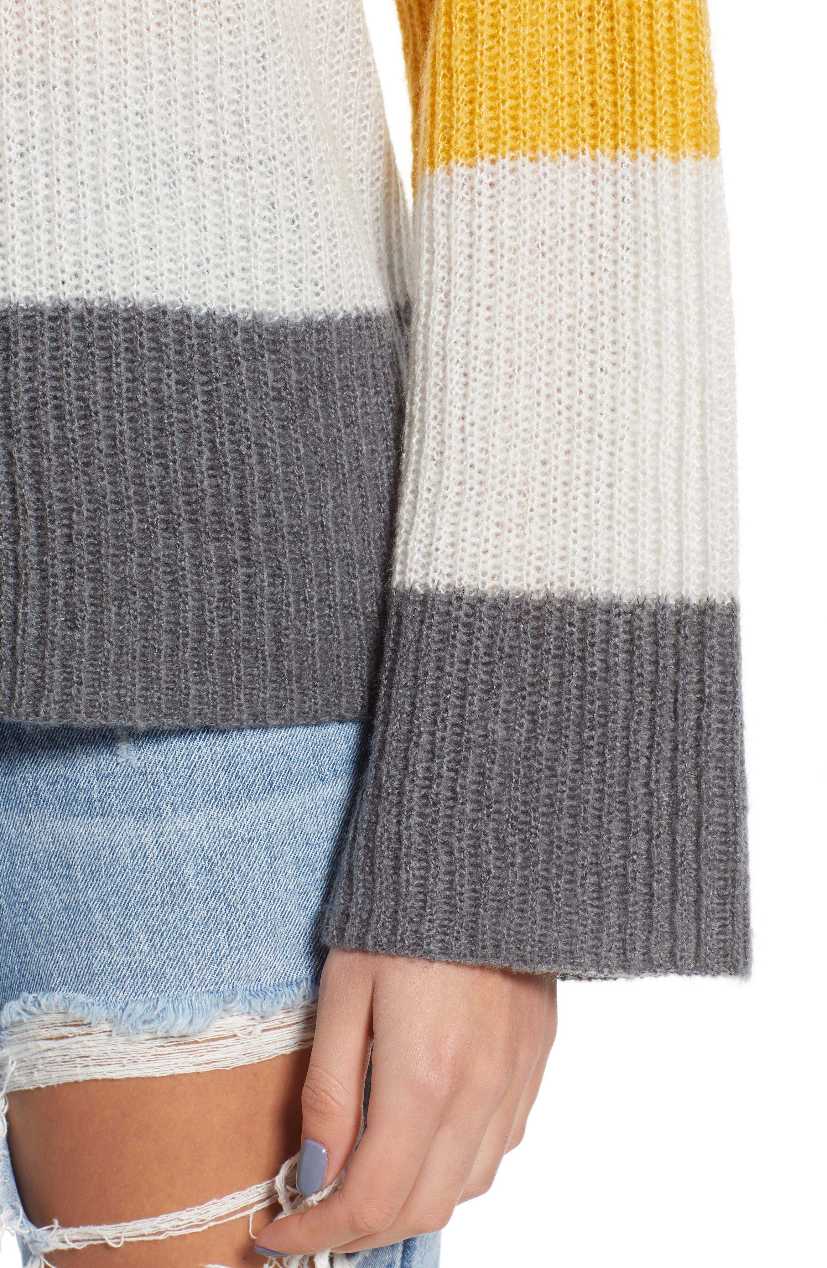 Stripe Pullover,                             Alternate thumbnail 4, color,                             900