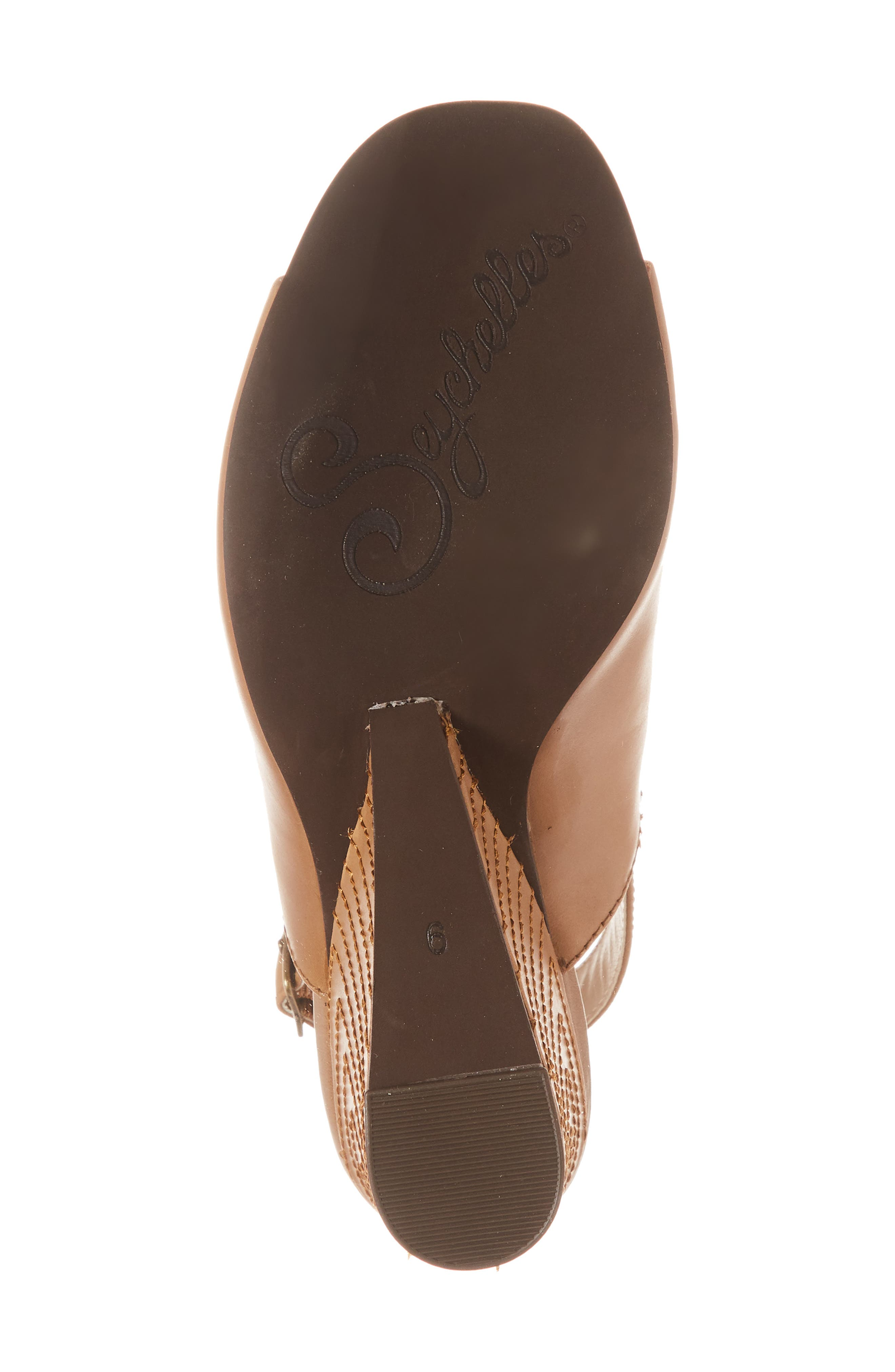 Abyssal Wedge Sandal,                             Alternate thumbnail 6, color,                             TAN LEATHER