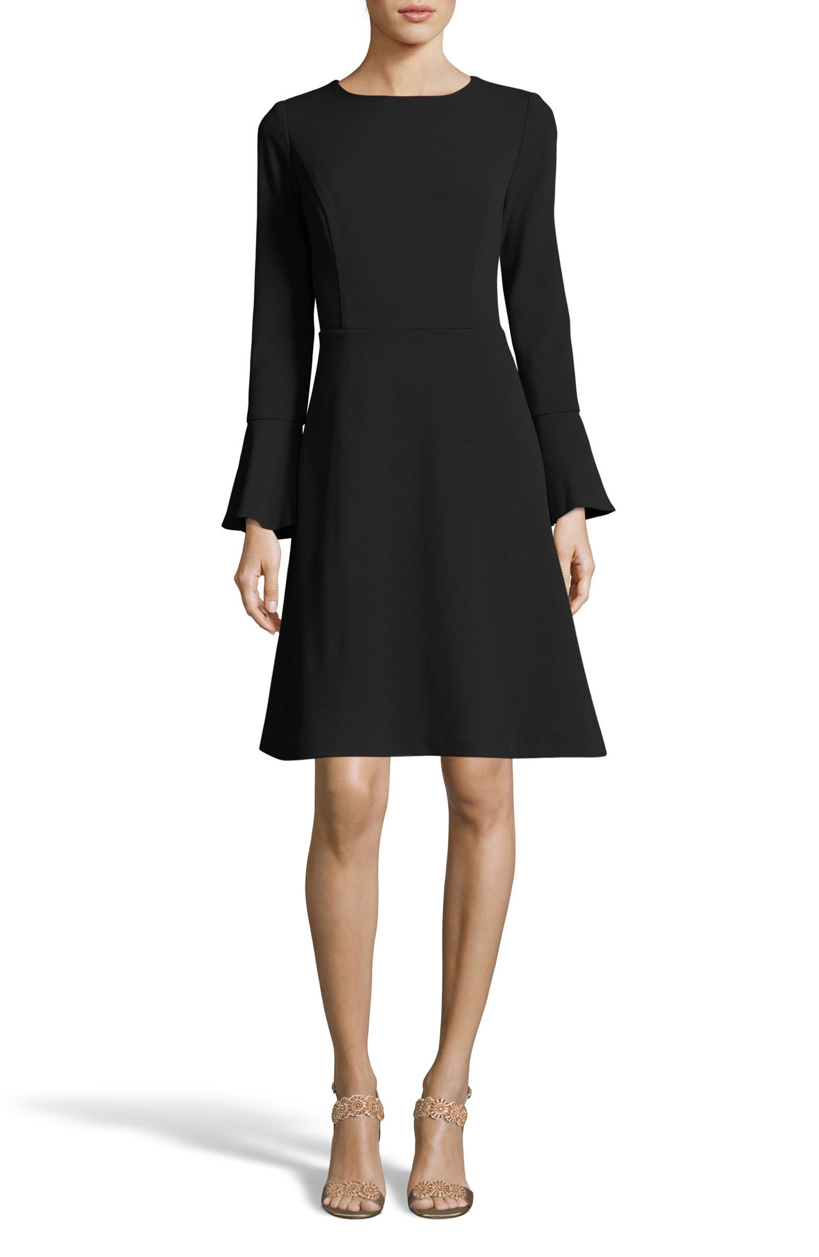 ECI,                             Fit & Flare Dress,                             Main thumbnail 1, color,                             001
