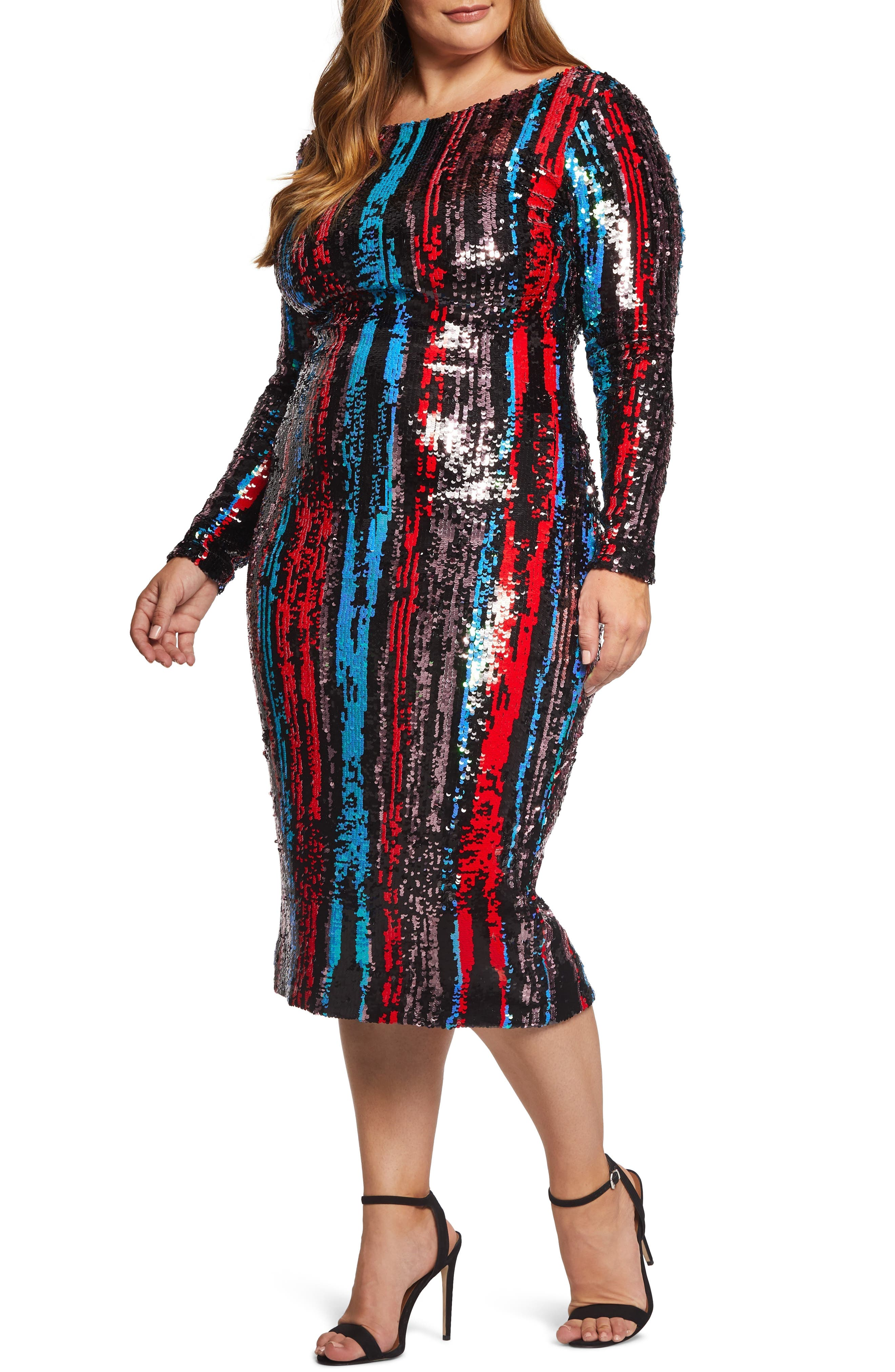 Emery Scoop Back Dress,                             Alternate thumbnail 2, color,                             ROUGE RED MULTI